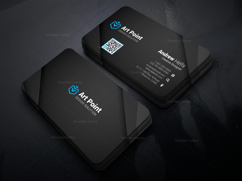 Black Professional Corporate Visit Card Template 1