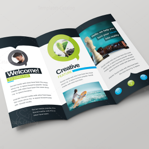 Bravo Corporate Creative Tri-fold Brochure