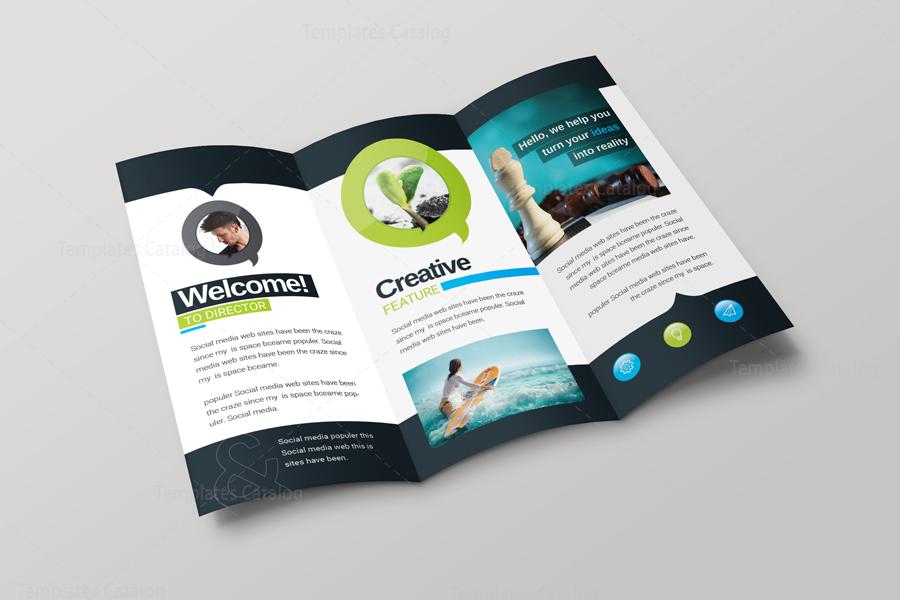 bravo corporate creative tri fold brochure 001286 template catalog
