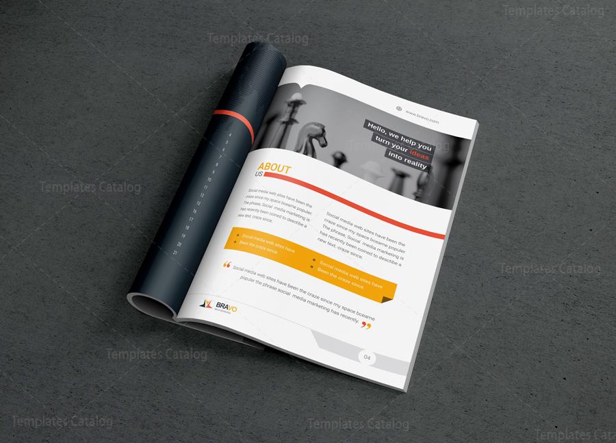 Bravo Premium Business Bi Fold Brochure Template 001282 Template