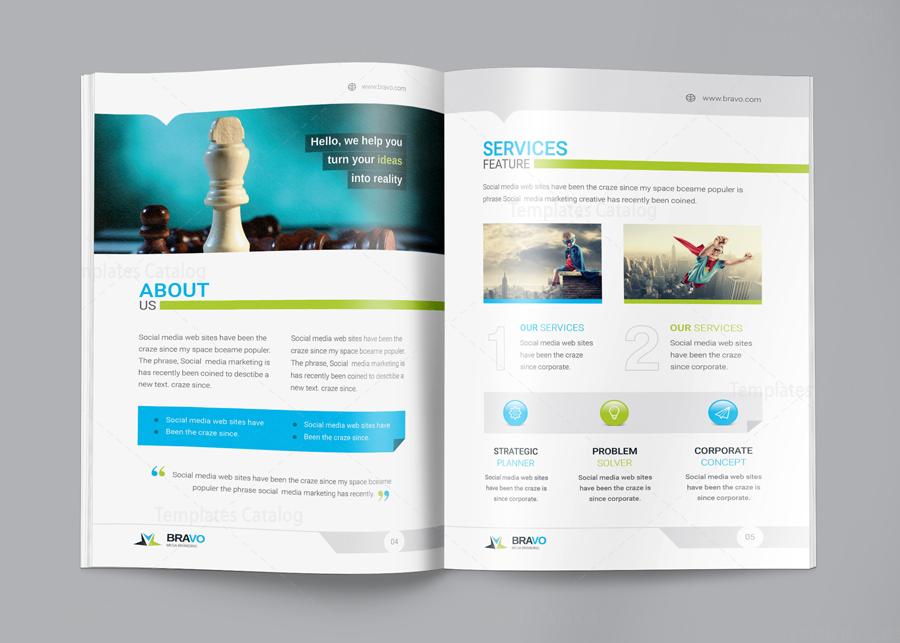 Bravo premium business bi fold brochure template 001282 for Premium brochure templates