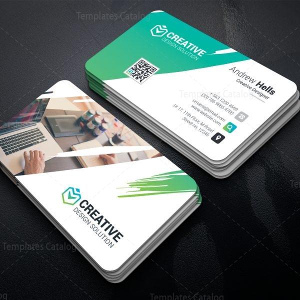 Caerus Professional Corporate Visit Card Template 1