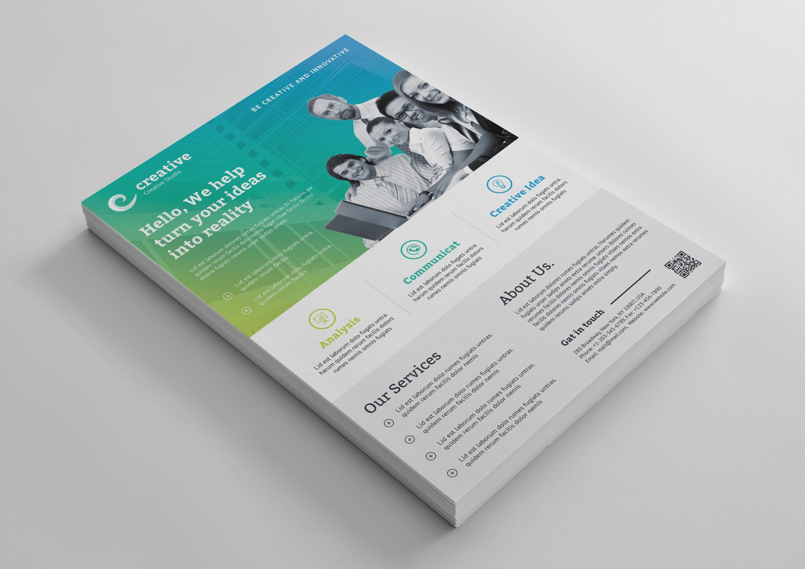 Charmant Corporate Flyer Vorlage Bilder - Beispiel Business ...