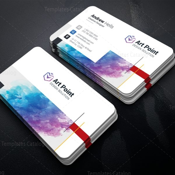 Castor Professional Corporate Visiting Card Template 1
