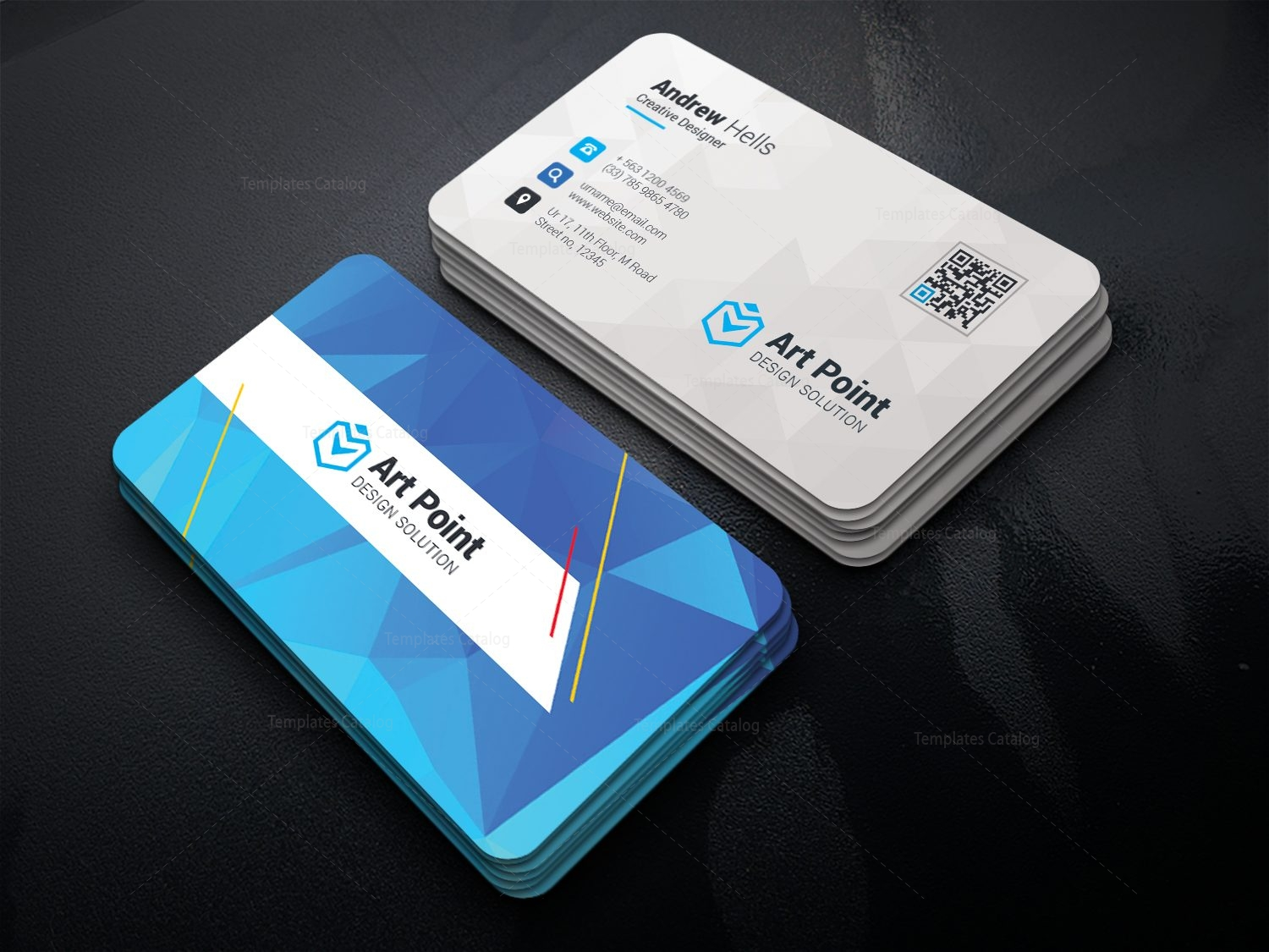 Charon Professional Corporate Visiting Card Template 001334 ...