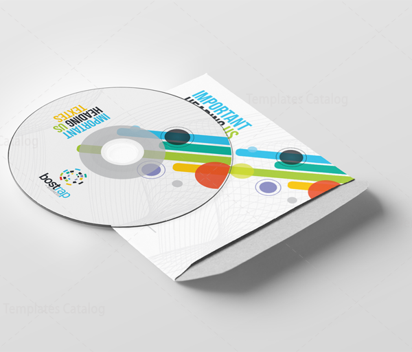 Colorful CD Sleeve and Sticker Template 5