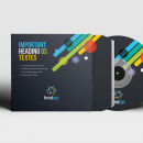 Colorful CD Sleeve and Sticker Template 6