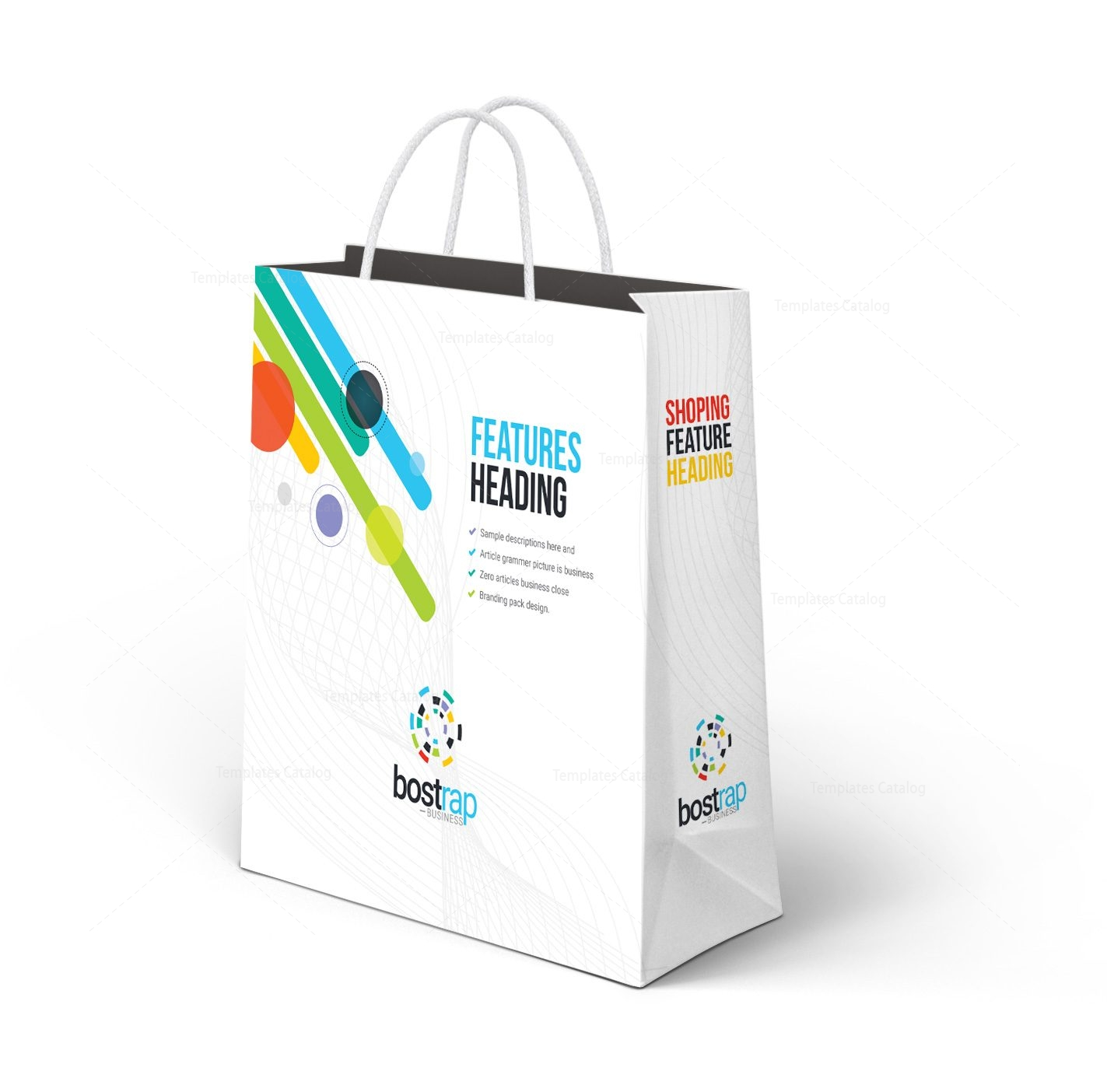 Colorful Shopping Bag Template 001273 - Template Catalog