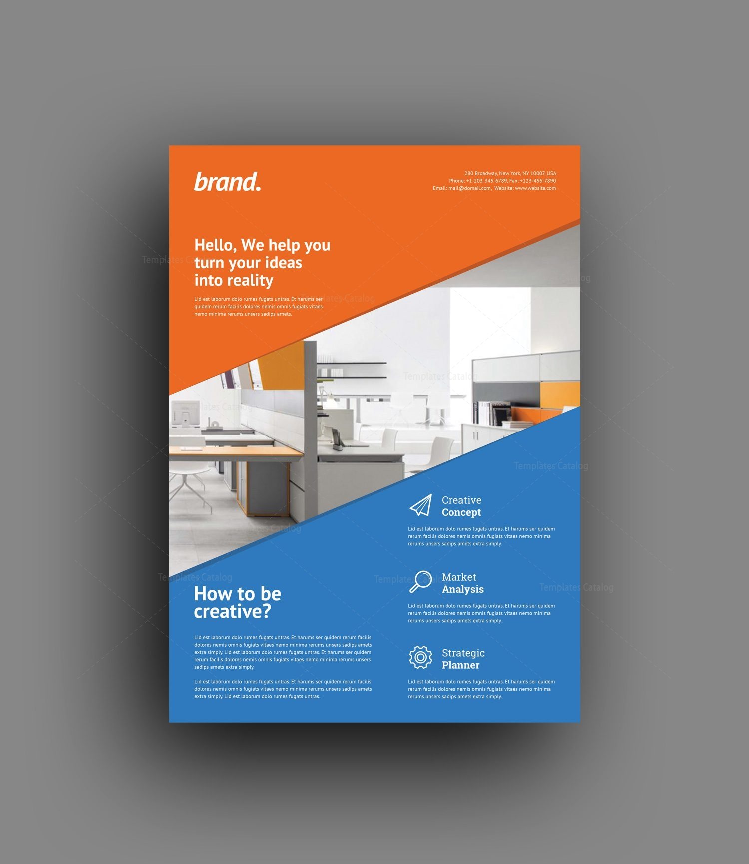 Creative interior design flyer template 001500 template for Creative interior and design