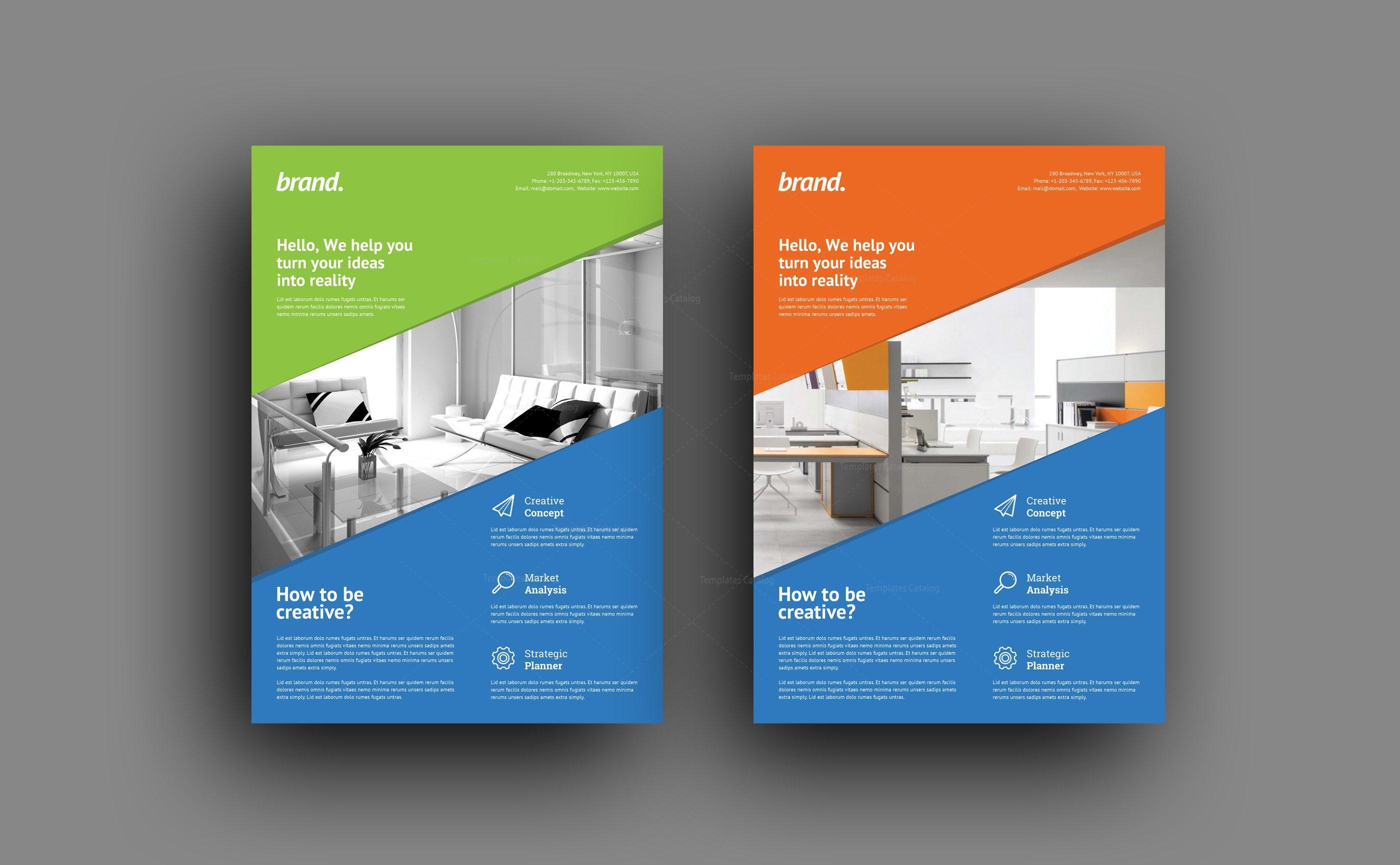 Creative Interior Design Flyer Template 001500 Template Catalog