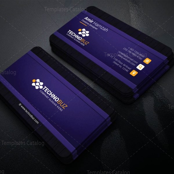Cronos Professional Corporate Visiting Card Template 1