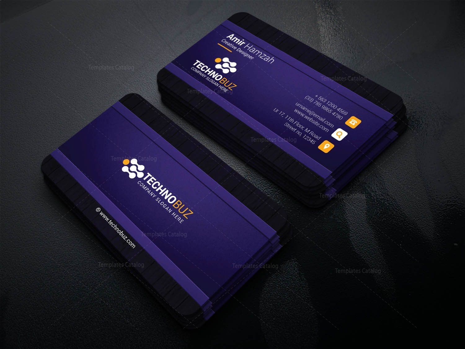 Cronos Professional Corporate Visiting Card Template