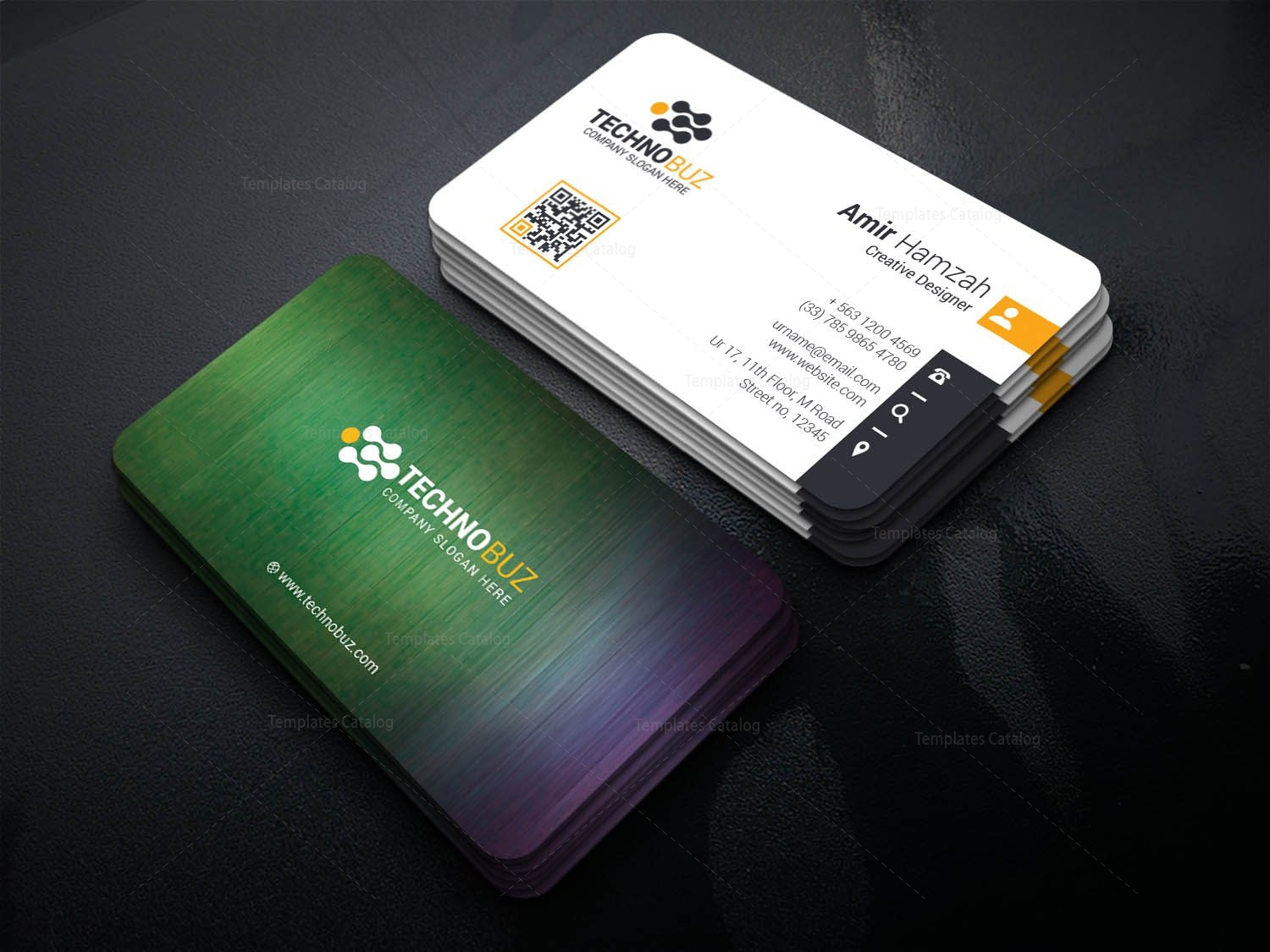 Dinlas professional corporate visiting card template 001339 dinlas professional corporate visiting card template 1 flashek