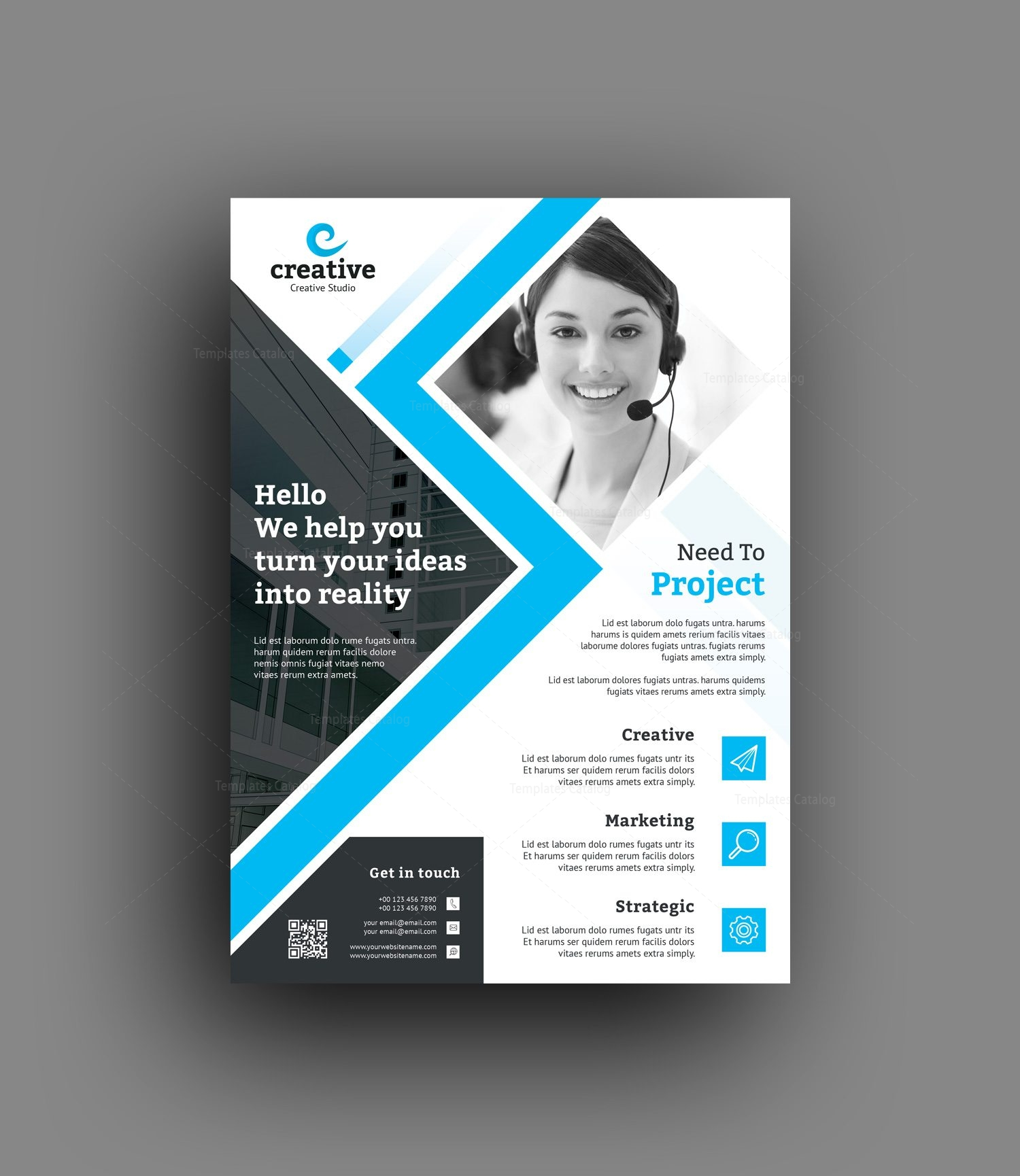 edison modern business corporate flyer template 001420