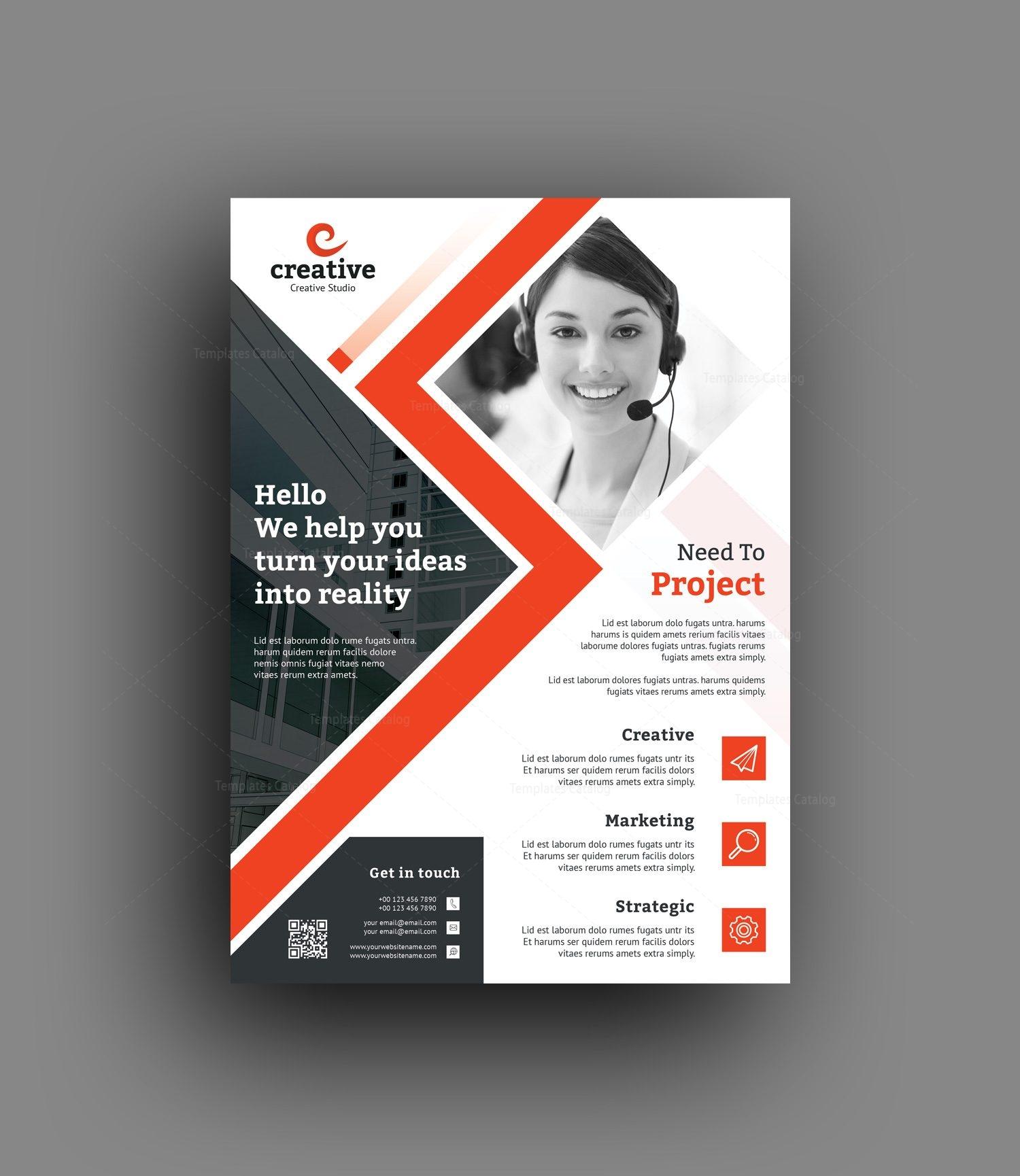 edison modern business corporate flyer template 001420 template