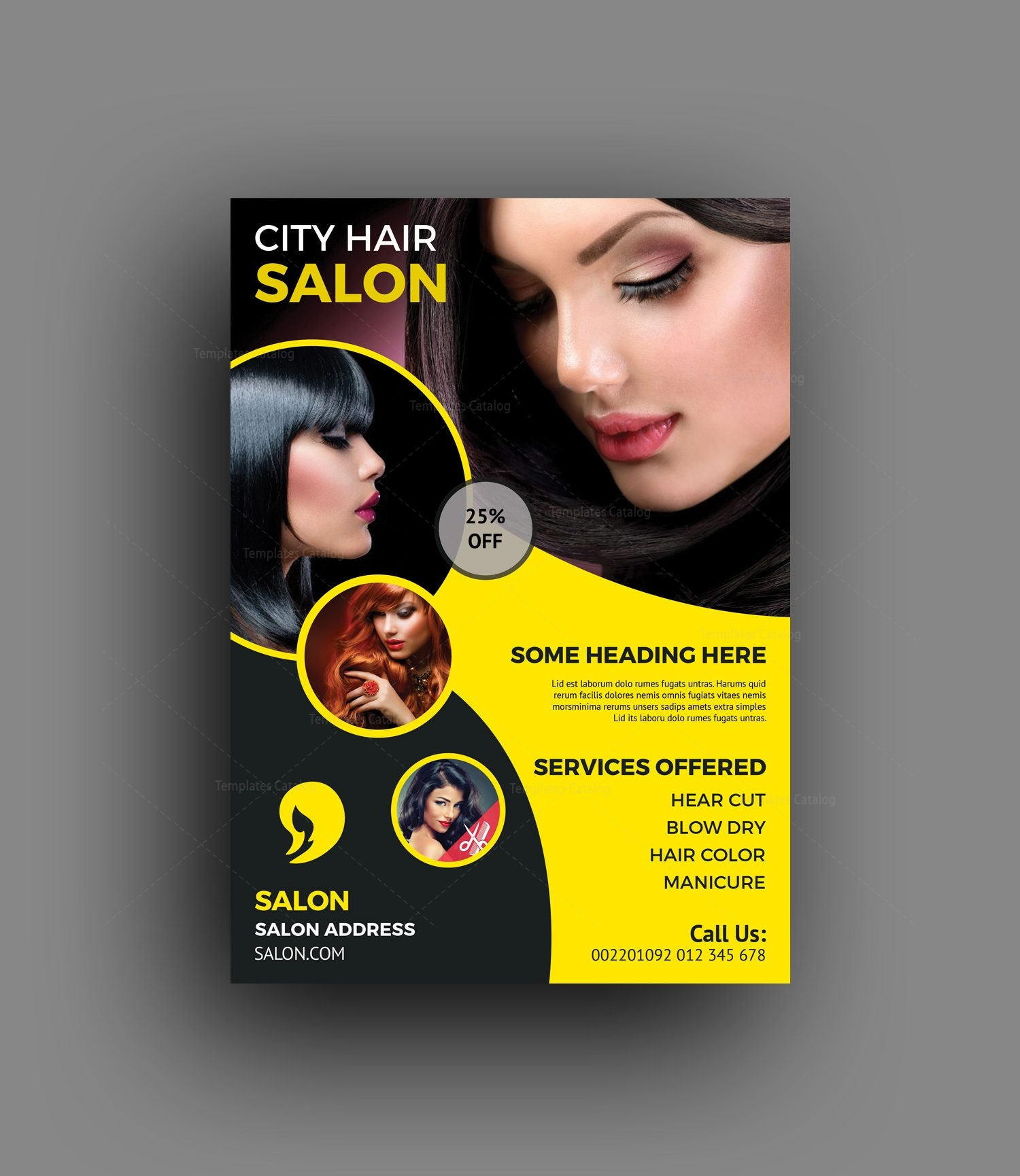 Elegant Hair Salon Flyer Template 6