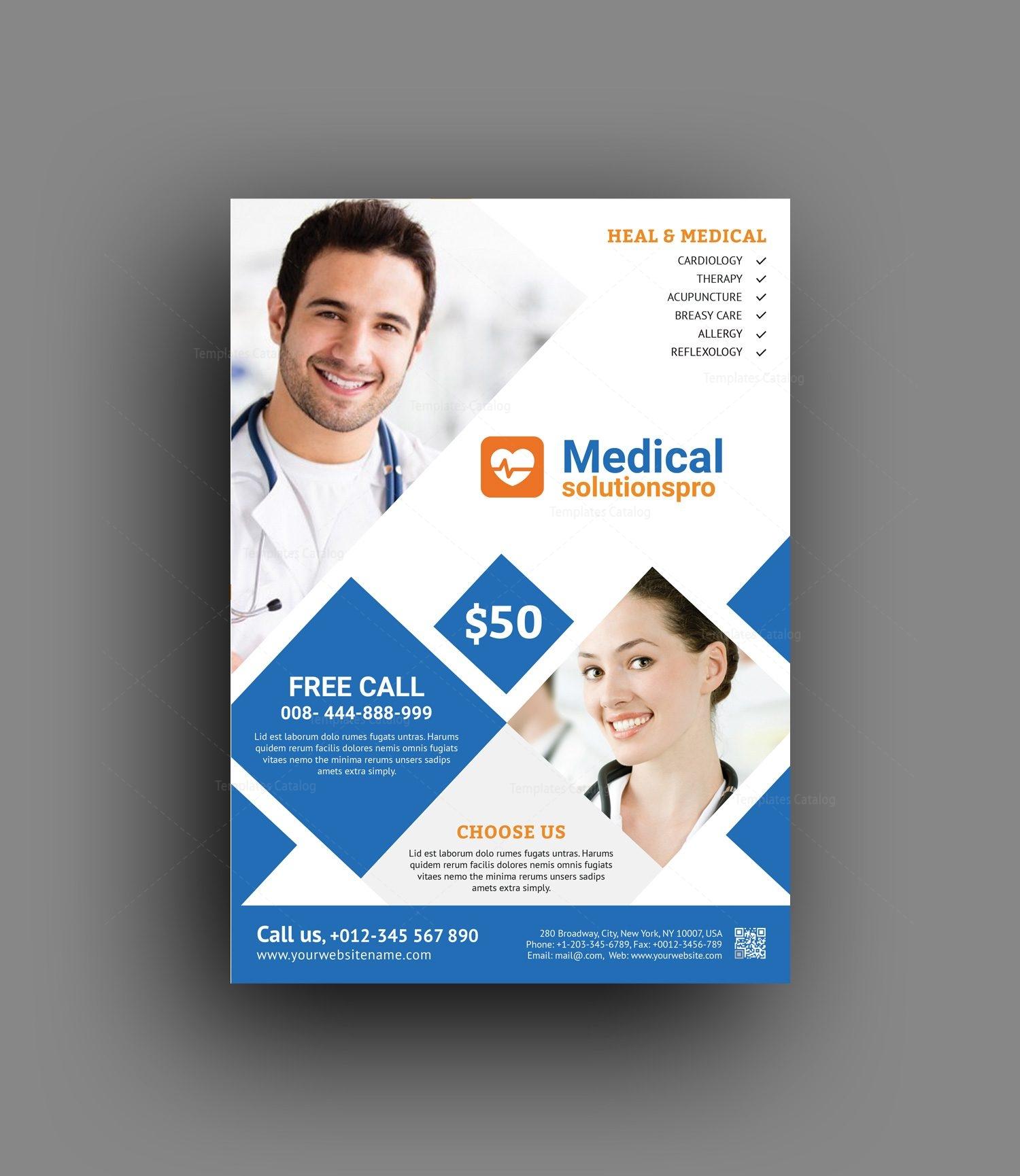 elegant medical flyer template 2