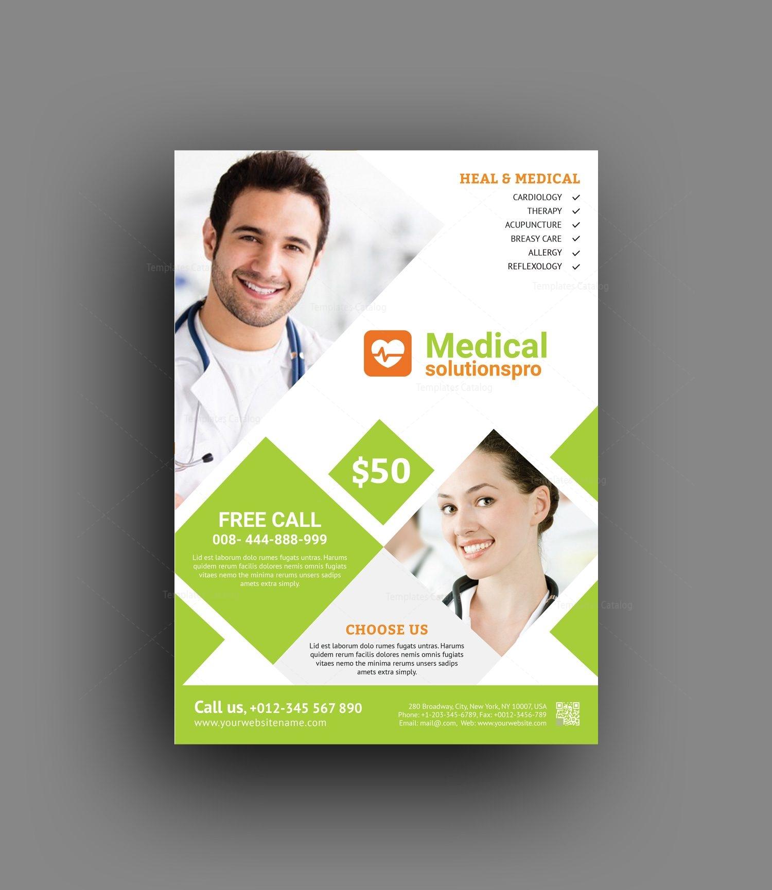 Elegant Medical Flyer Template 001465 Template Catalog