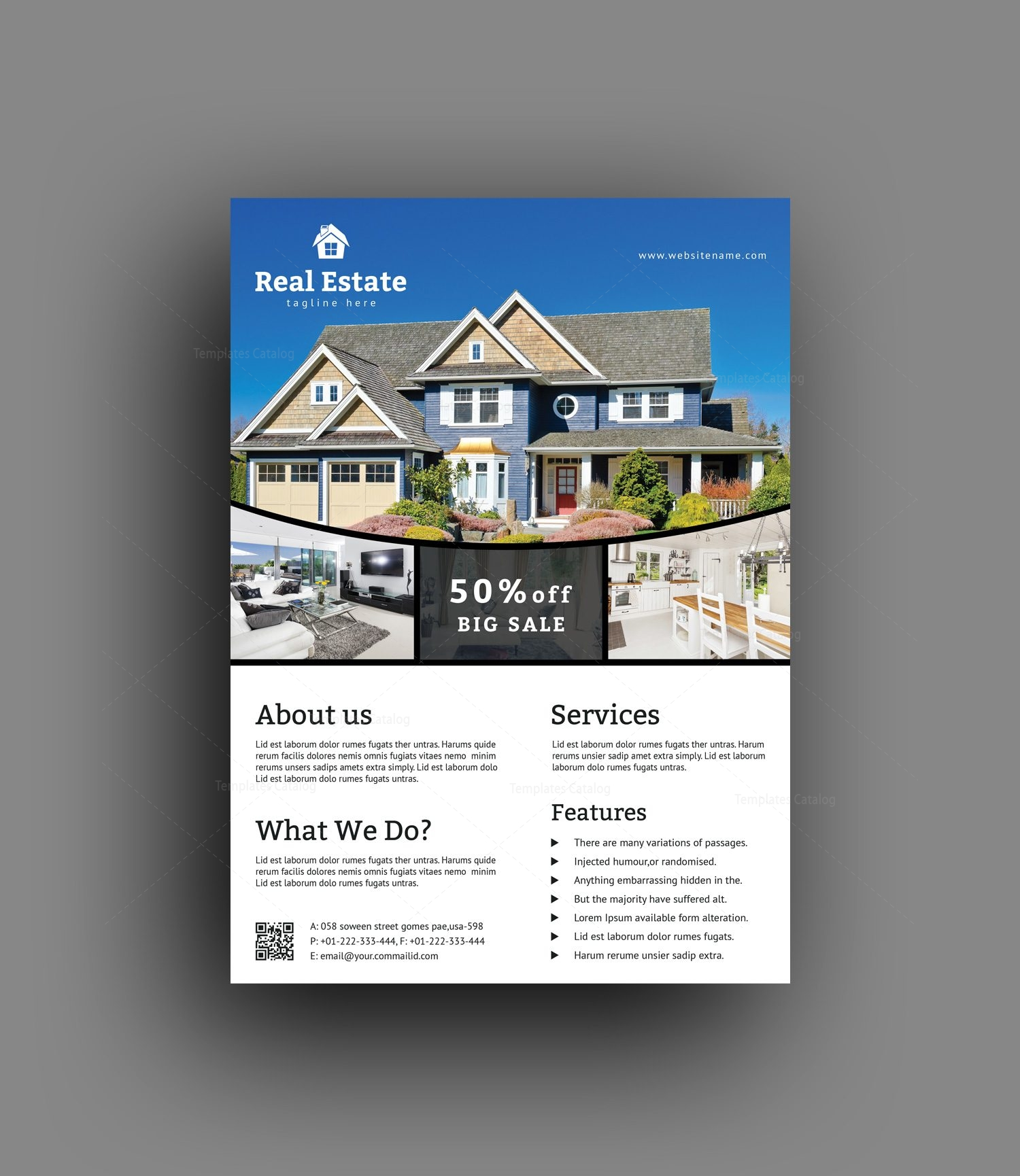 better real estate flyer template creative graphic design print