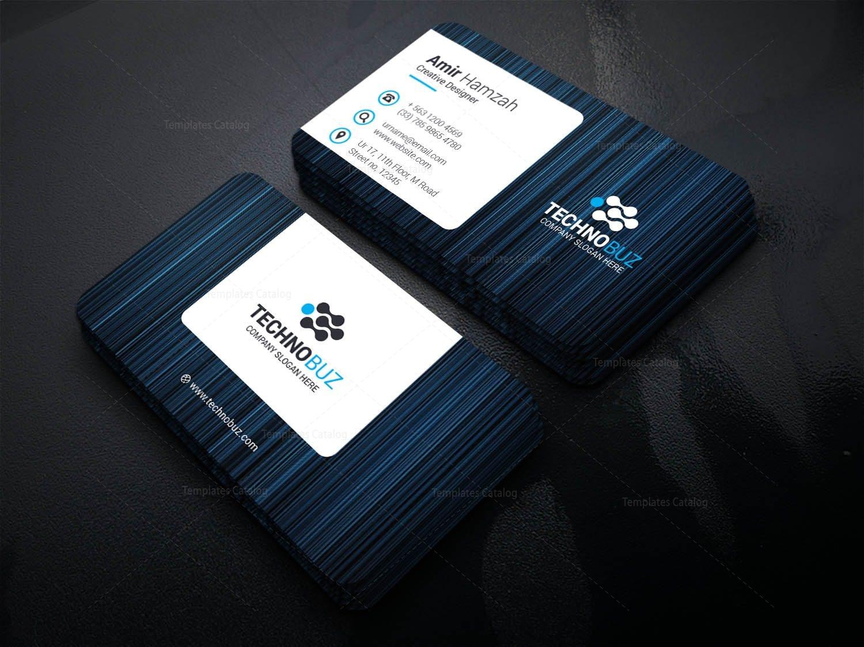 Eros Creative Corporate Business Card Template 001343 - Template Catalog