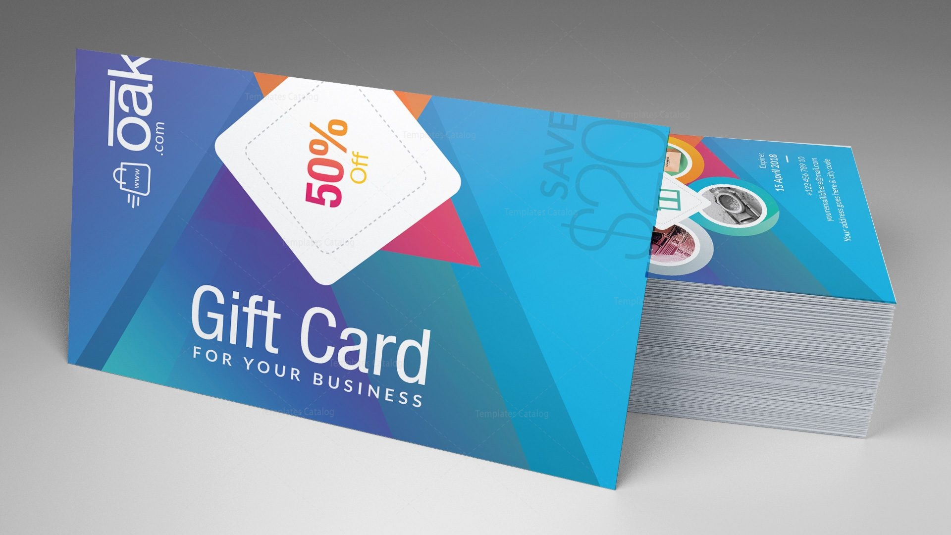 Excellent Corporate Gift Card Template 001254 - Template Catalog