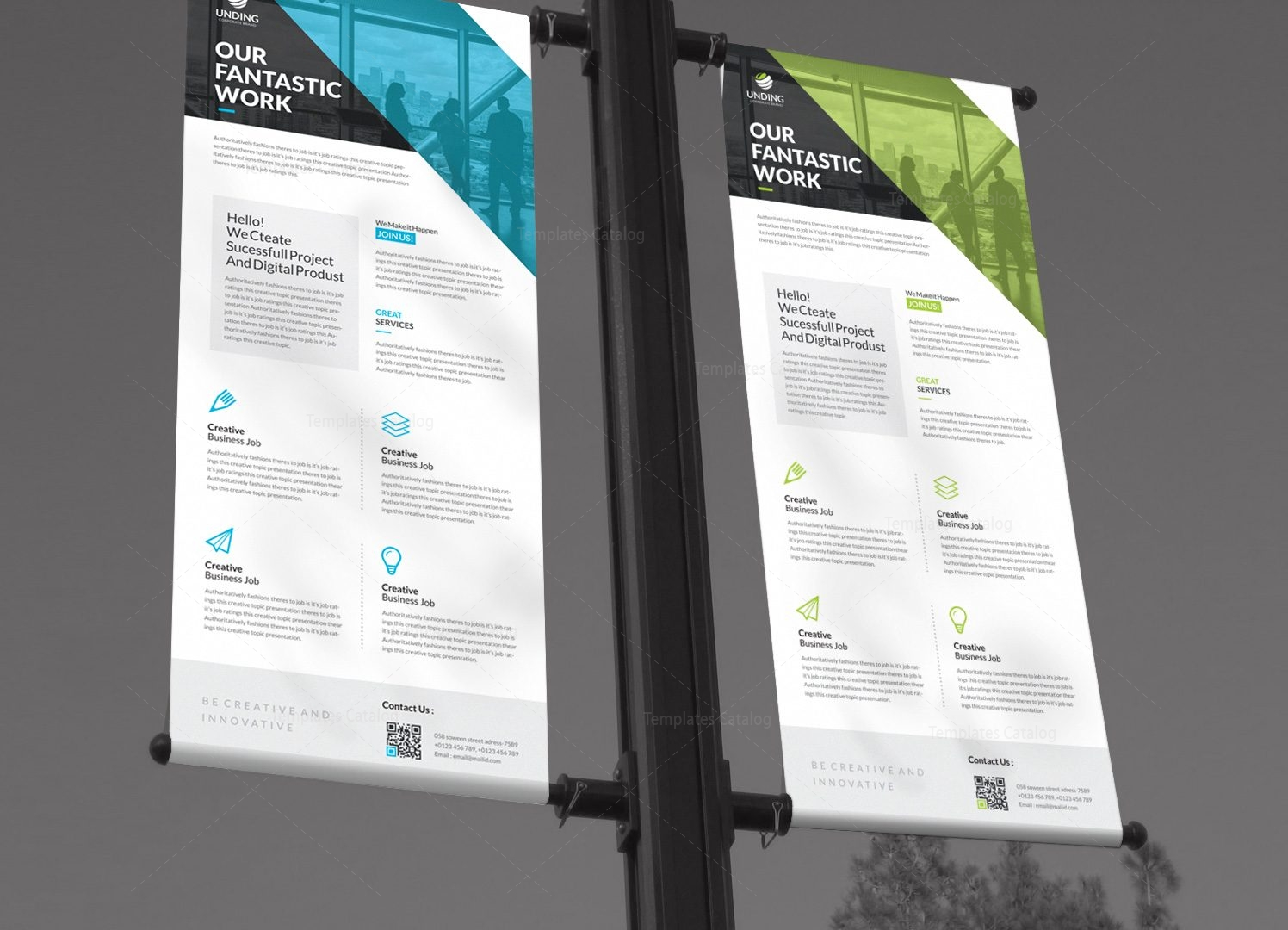 Fantastic Professional Roll-Up Banner Template 001260 - Template Catalog