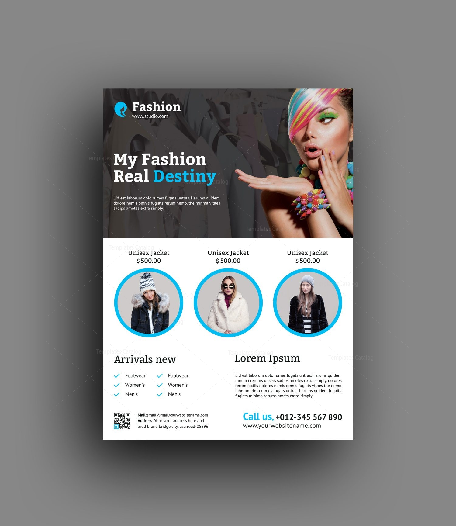 Fashion Flyer Design Template 001496 Template Catalog