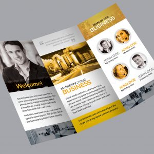 Flora Corporate Creative Tri-fold Brochure