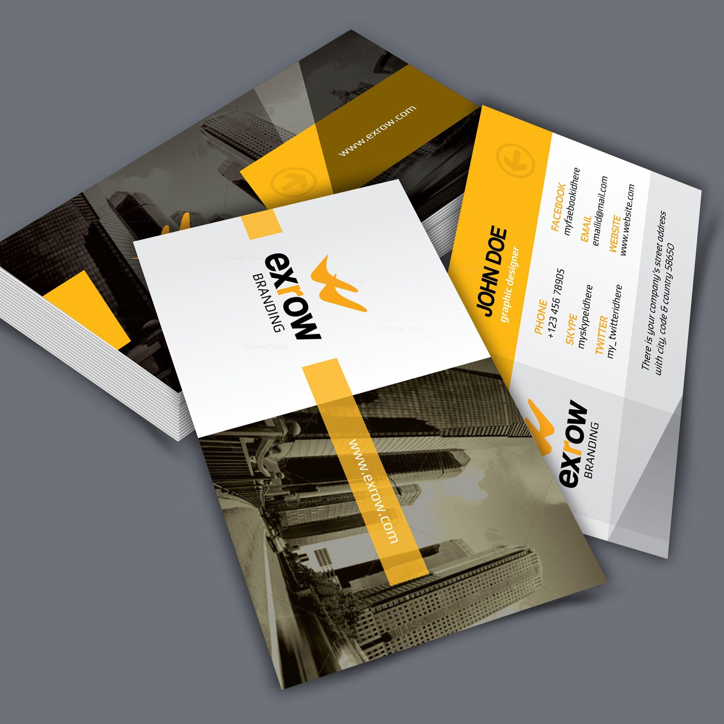 flora creative corporate business card template 001293 template