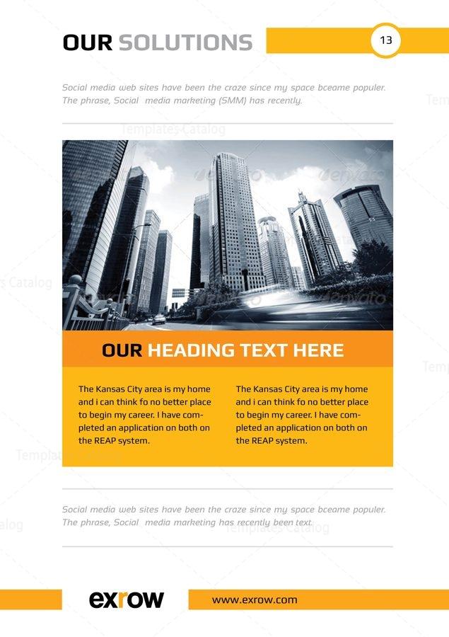 Flora Premium Business Bi Fold Brochure Template 001289 Template