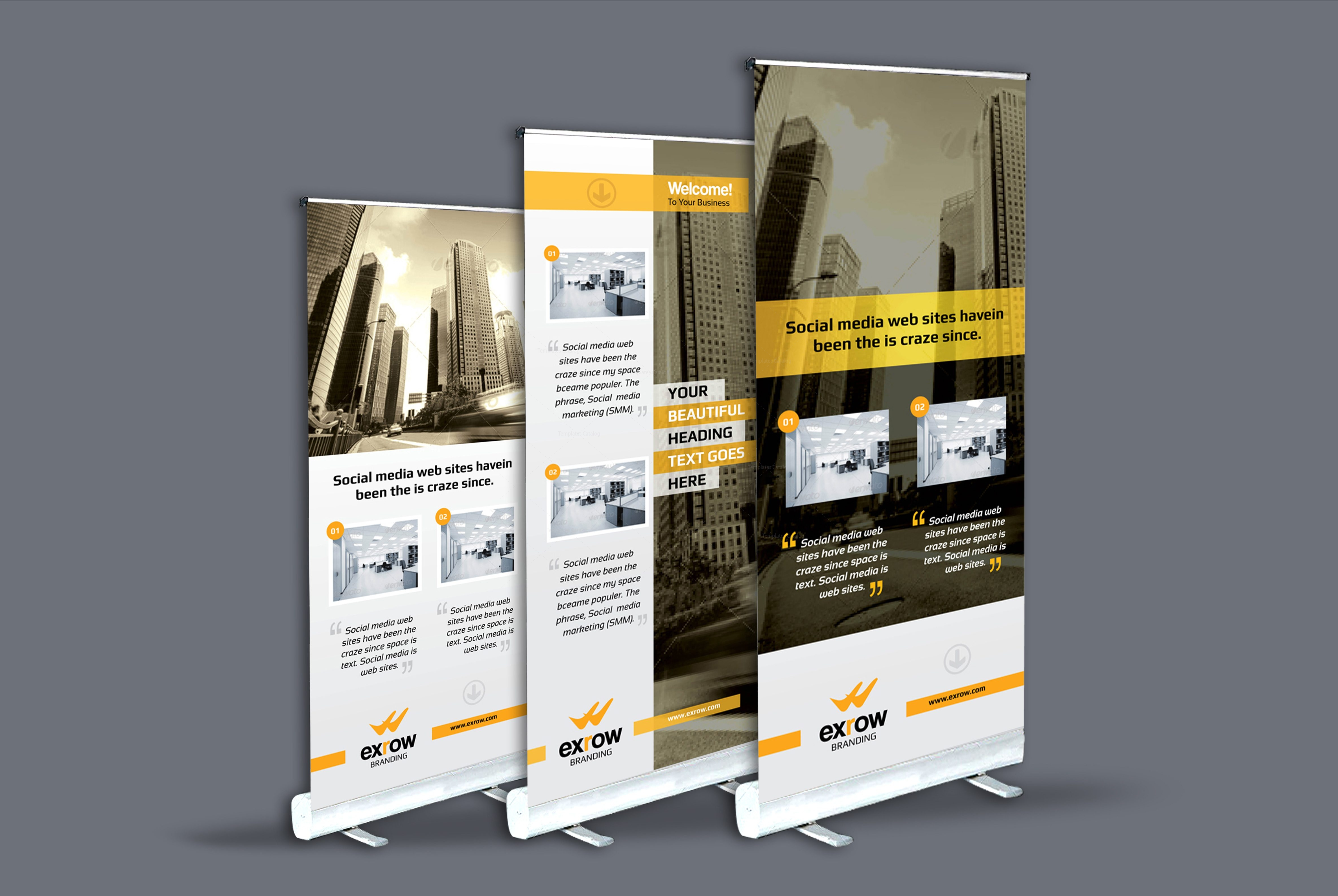 Flora Professional Roll-Up Banner Template 001290 - Template Catalog