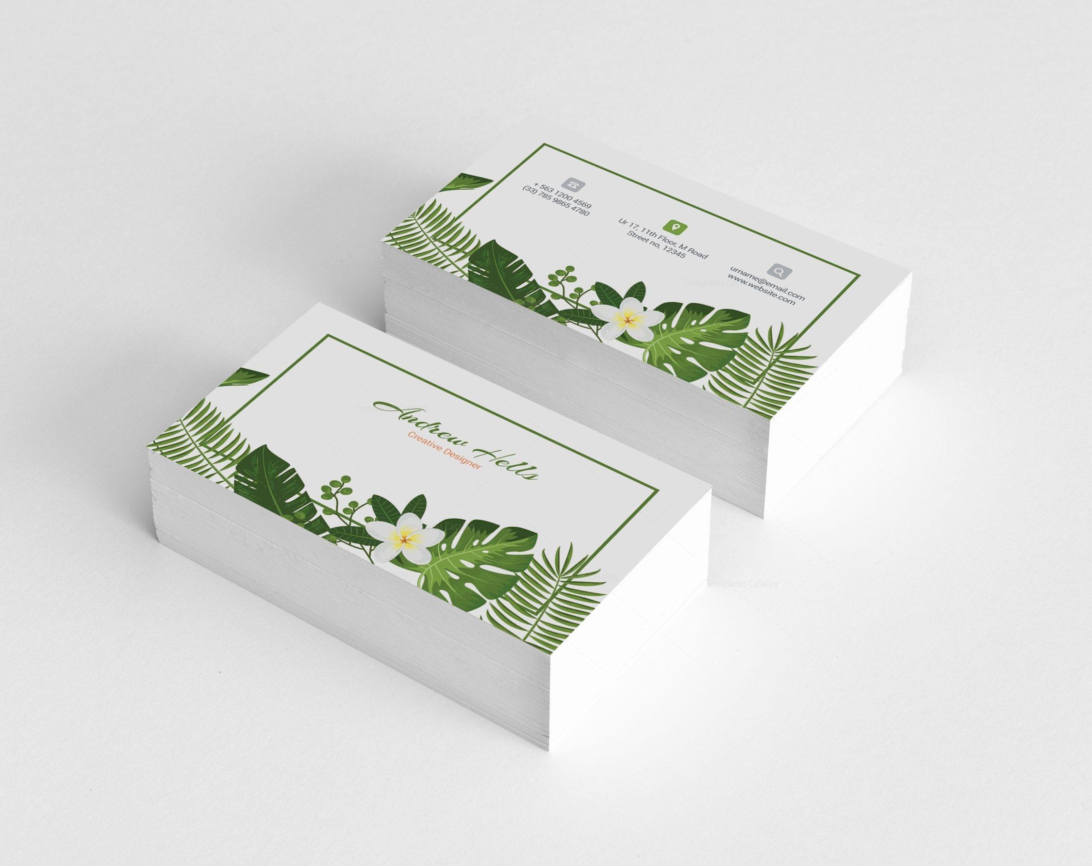 Florist Professional Corporate Business Card Template 001328 ...