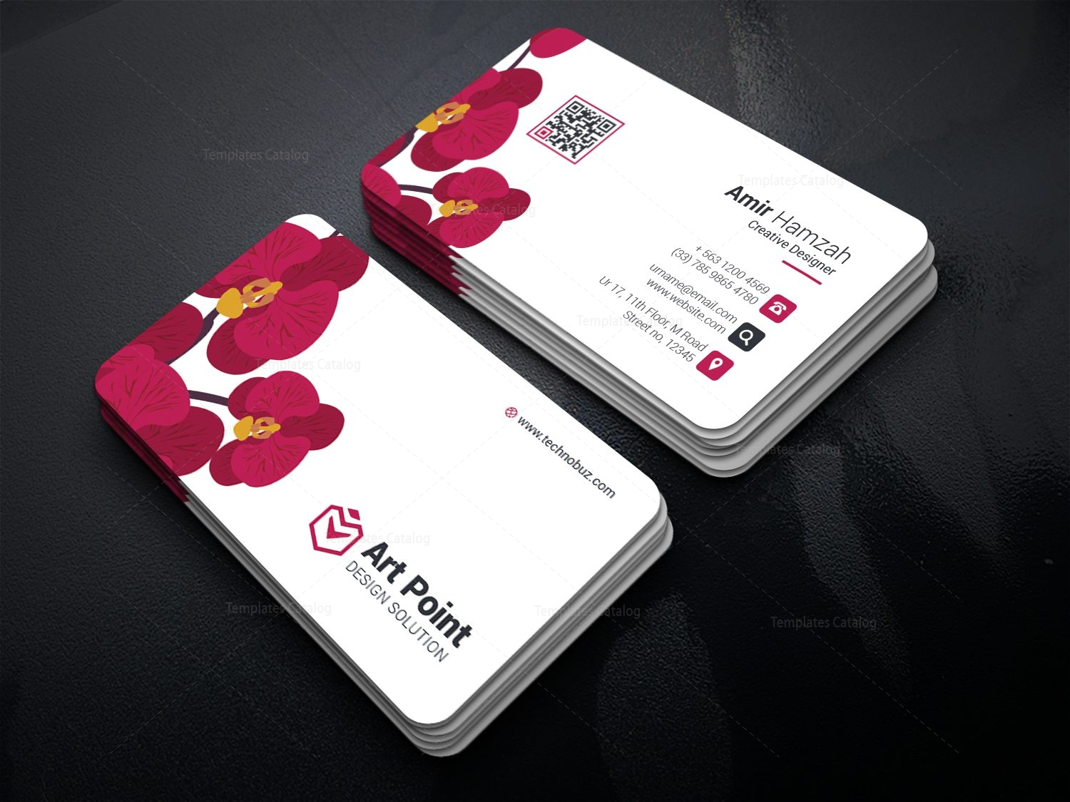 Flower Professional Corporate Business Card Template 001312 ...