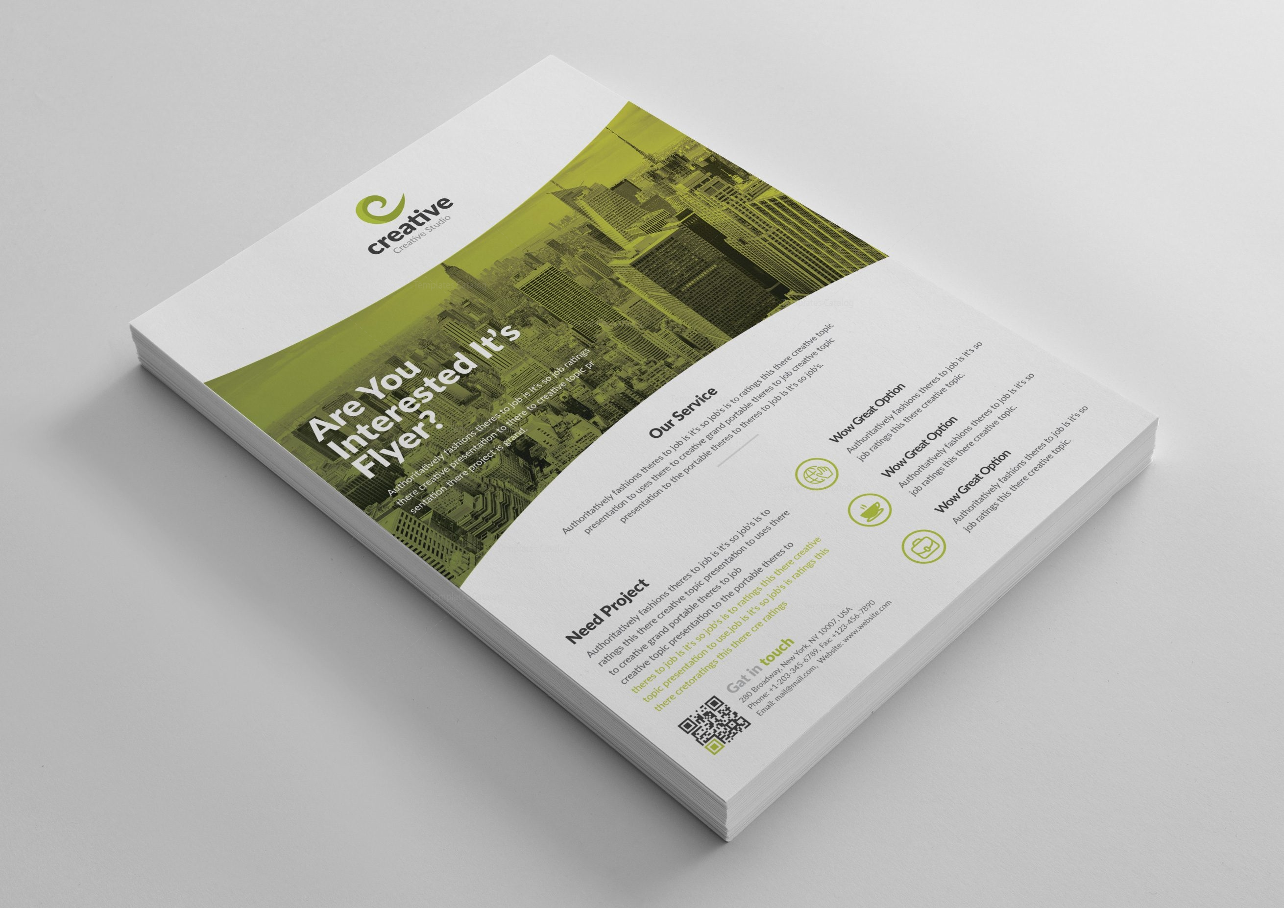 Geneva Stylish Business Corporate Flyer Template 001424 - Template ...