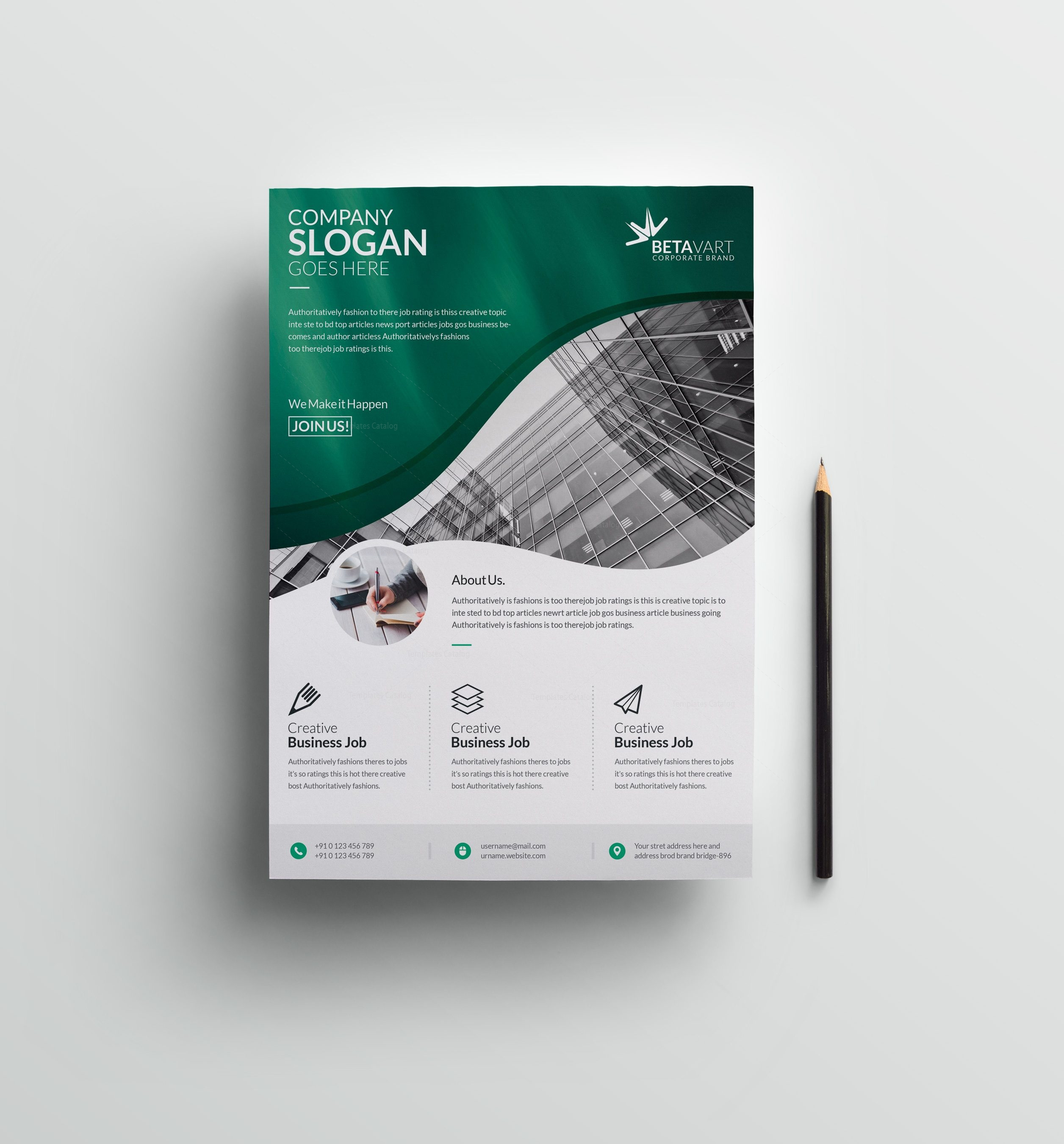 Halley Elegant Professional Business Flyer Template 001250 ...