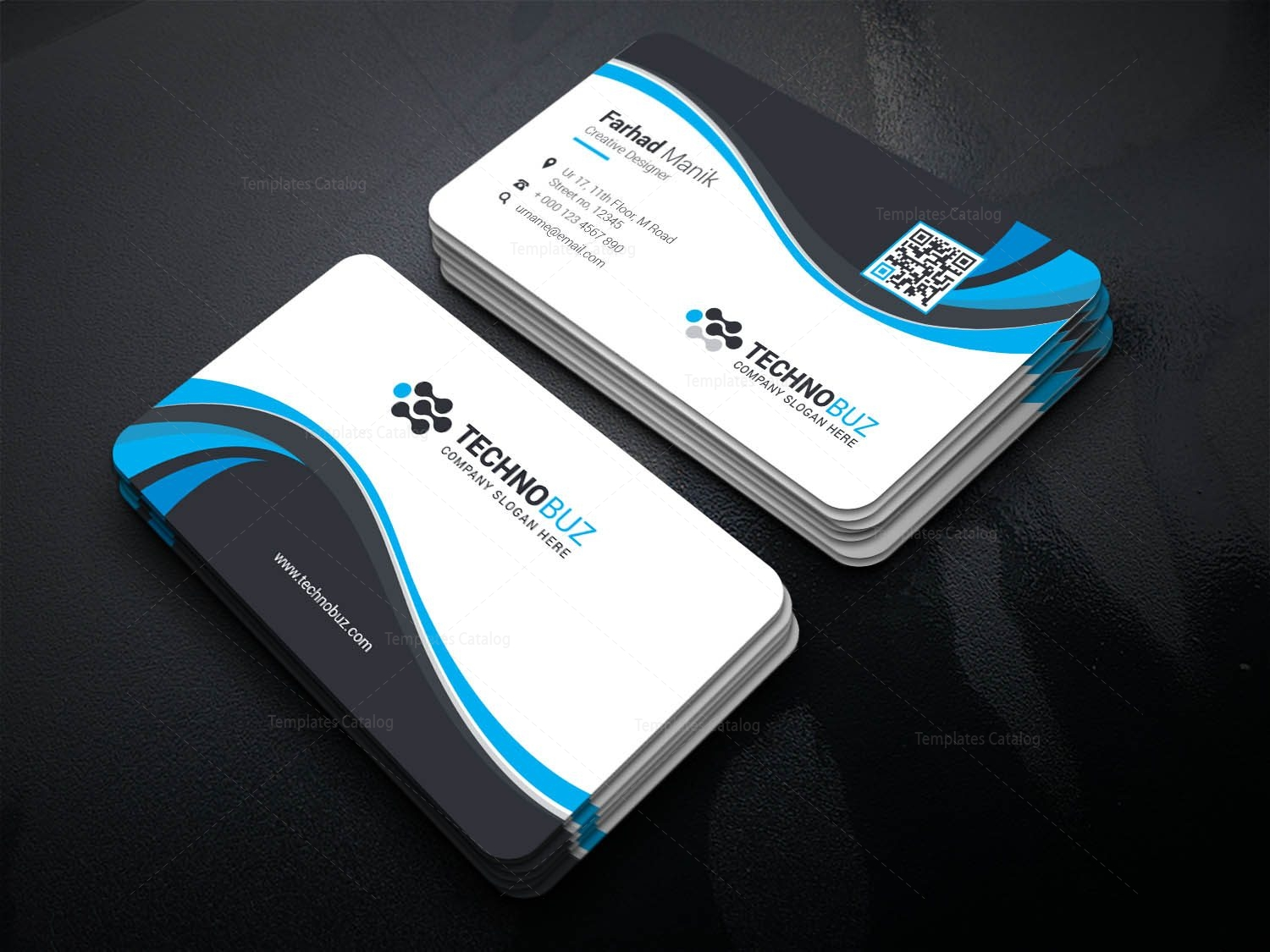 Heracles Creative Corporate Business Card Template 001351 - Template ...