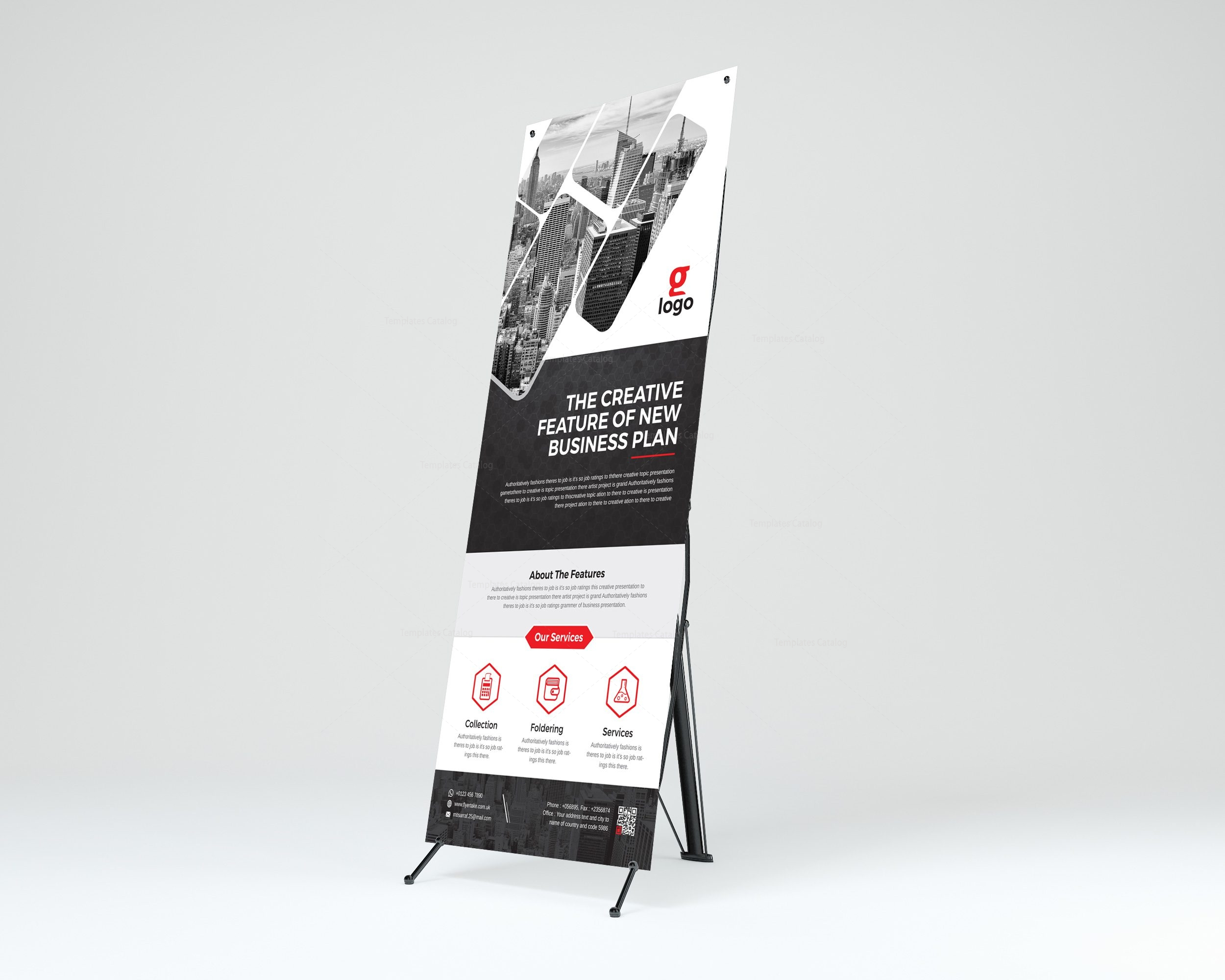 Hesperus Professional Roll-Up Banner Template 001263 - Template Catalog