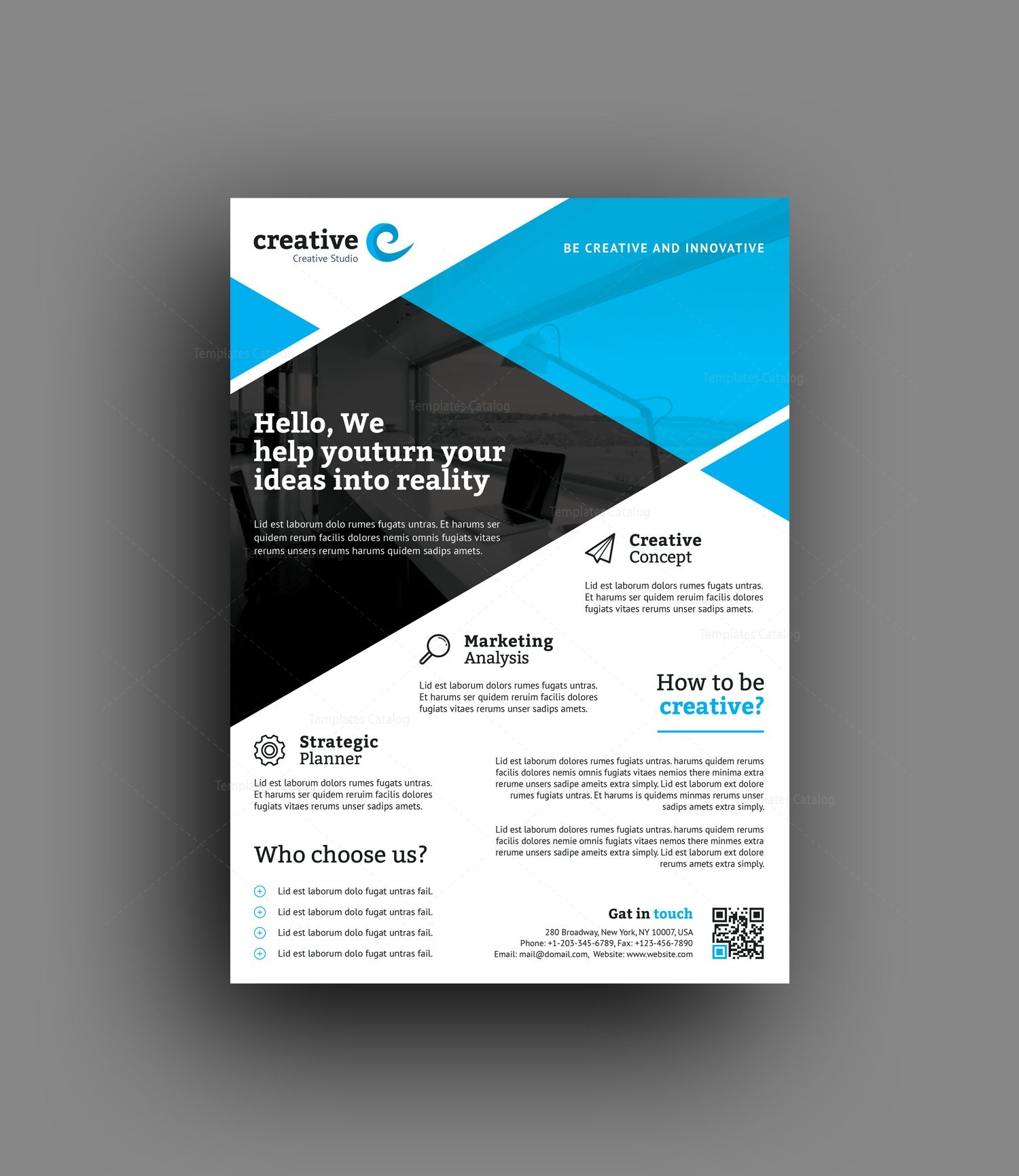 Professional Flyer Design Templates: Honolulu Professional Business Flyer Template 001407