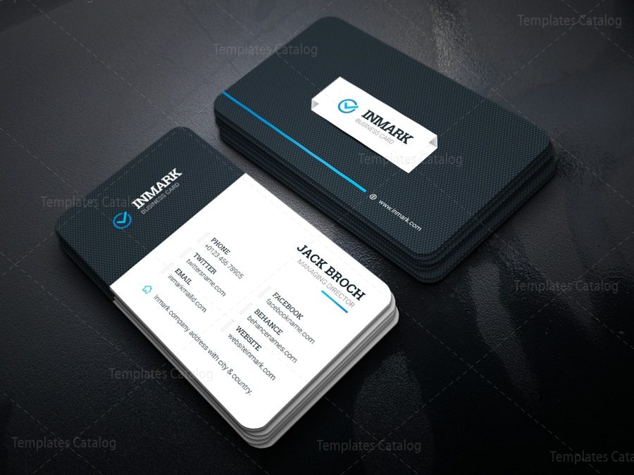 Inmark creative corporate business card template 001429 template inmark creative corporate business card template 2 accmission Image collections
