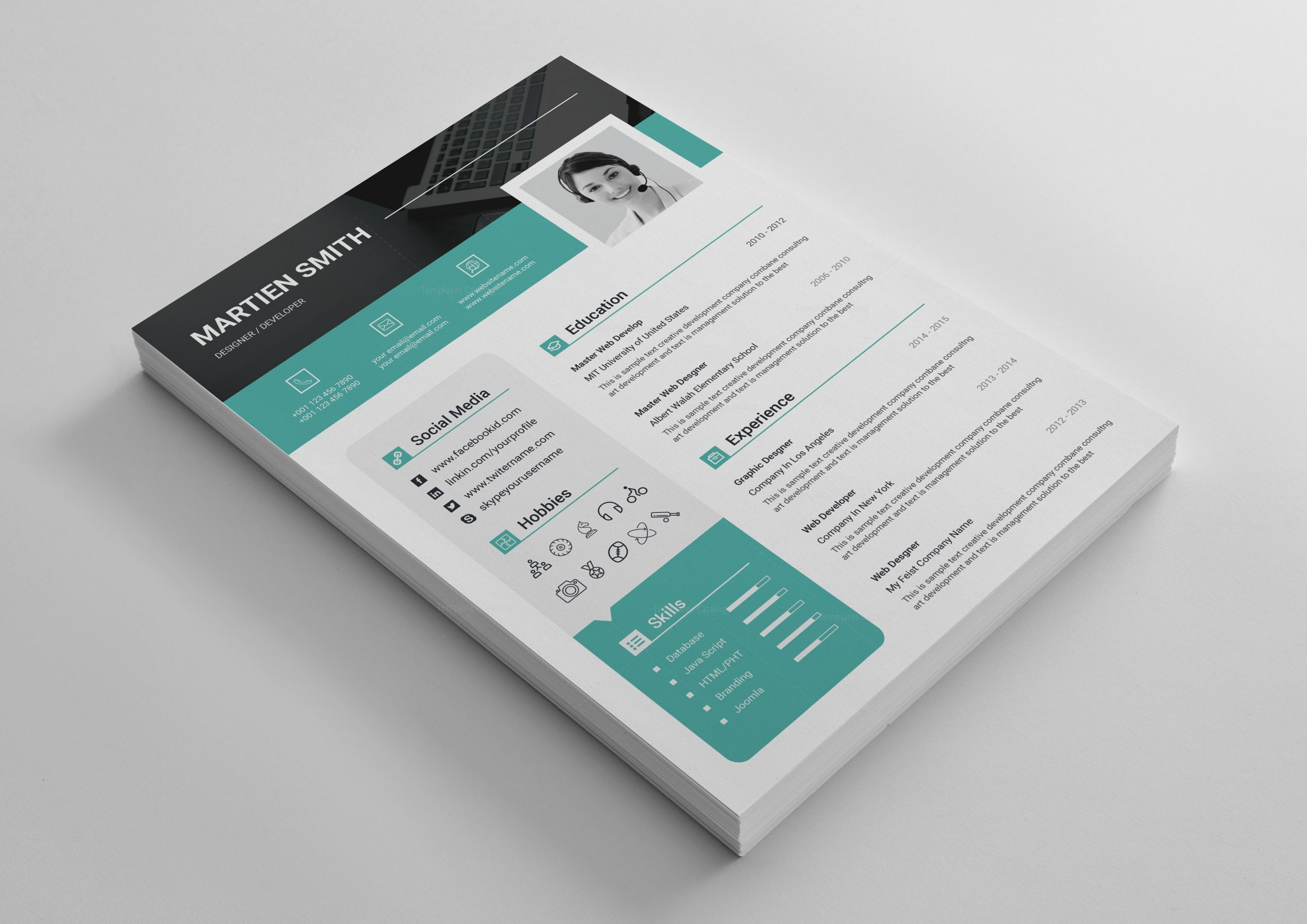 Lexington Premium Professional Resume Template 001451