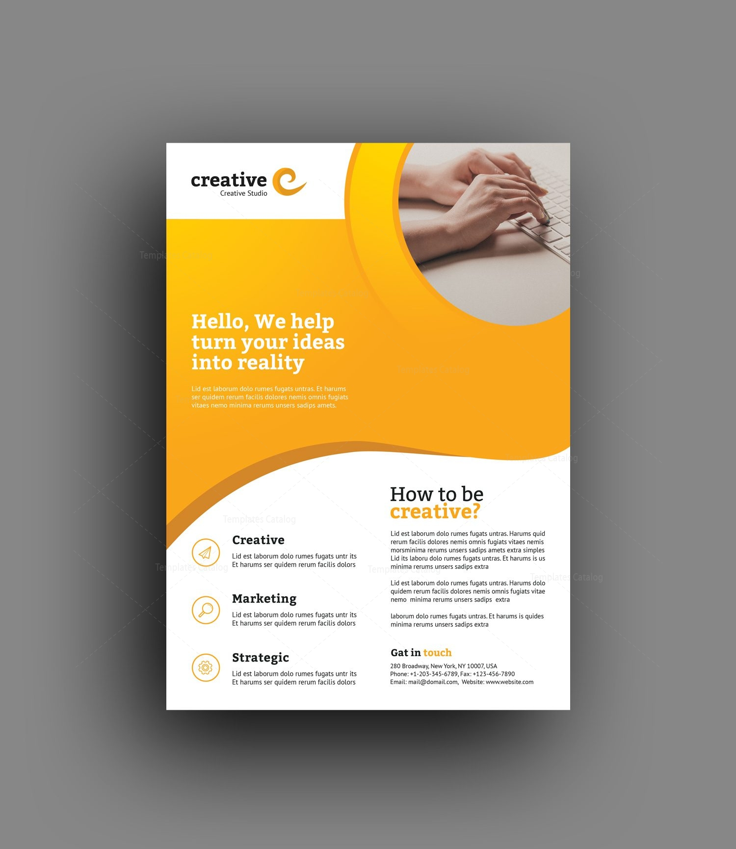 madrid elegant professional business flyer template 001365