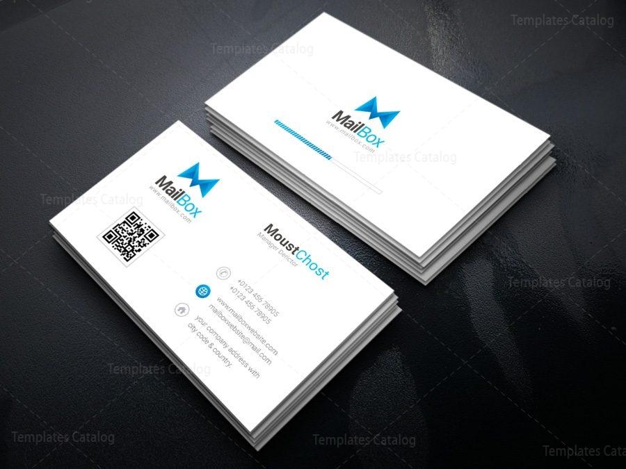 Mailbox Creative Corporate Business Card Template 001430 Template