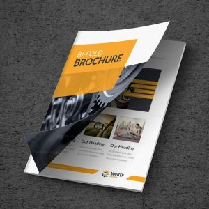 Master Premium Business Bi-Fold Brochure Template