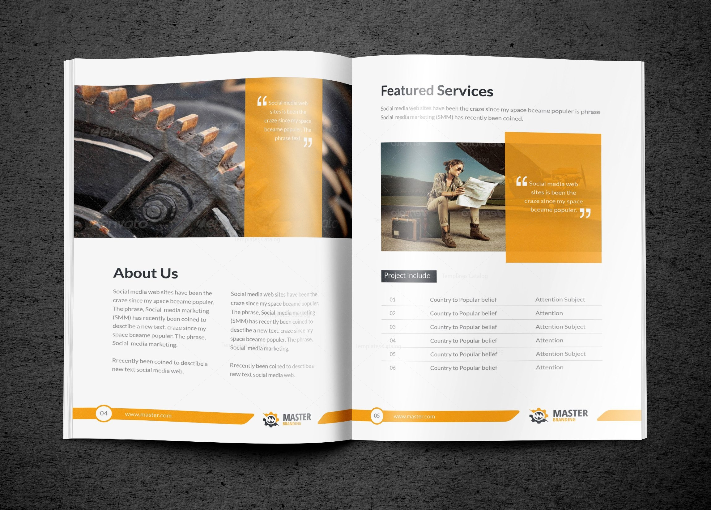 premium brochure templates - master premium business bi fold brochure template 001297