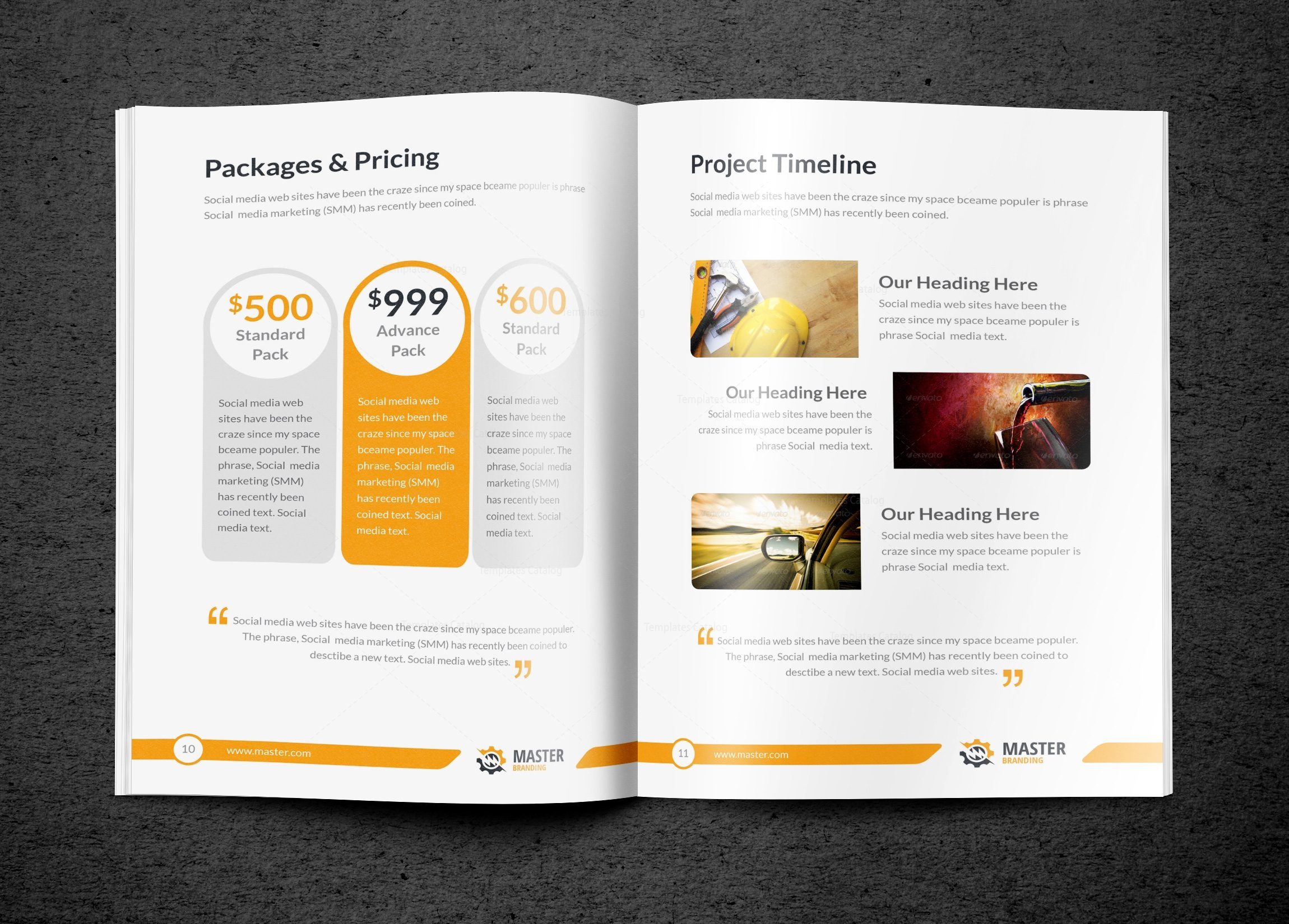 Master premium business bi fold brochure template 001297 for Corporate bi fold brochure template