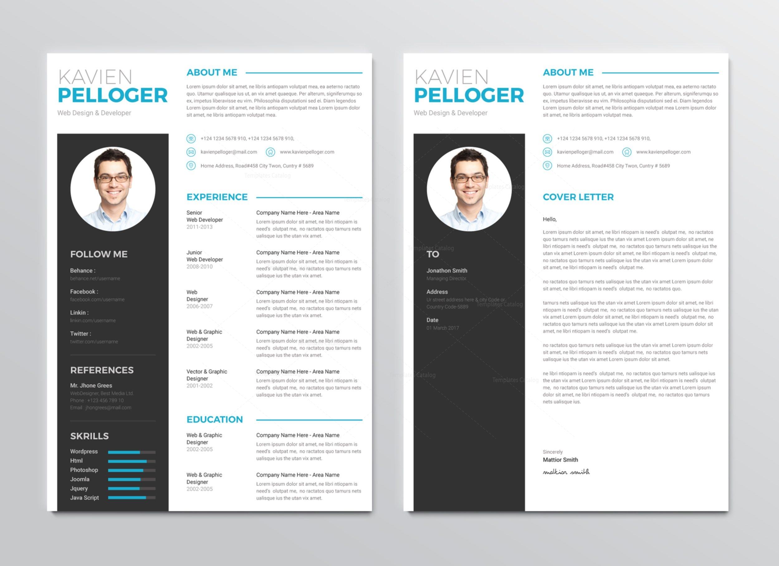 medusa premium professional resume template 001270