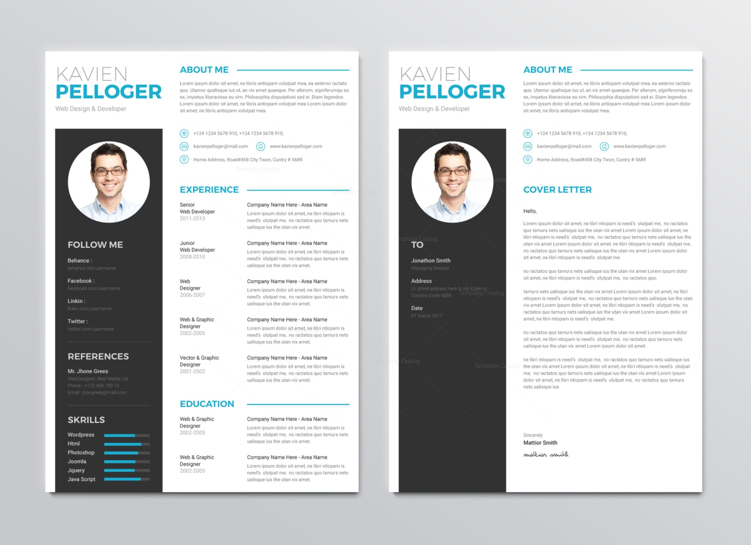 medusa premium professional resume template 001270 template catalog