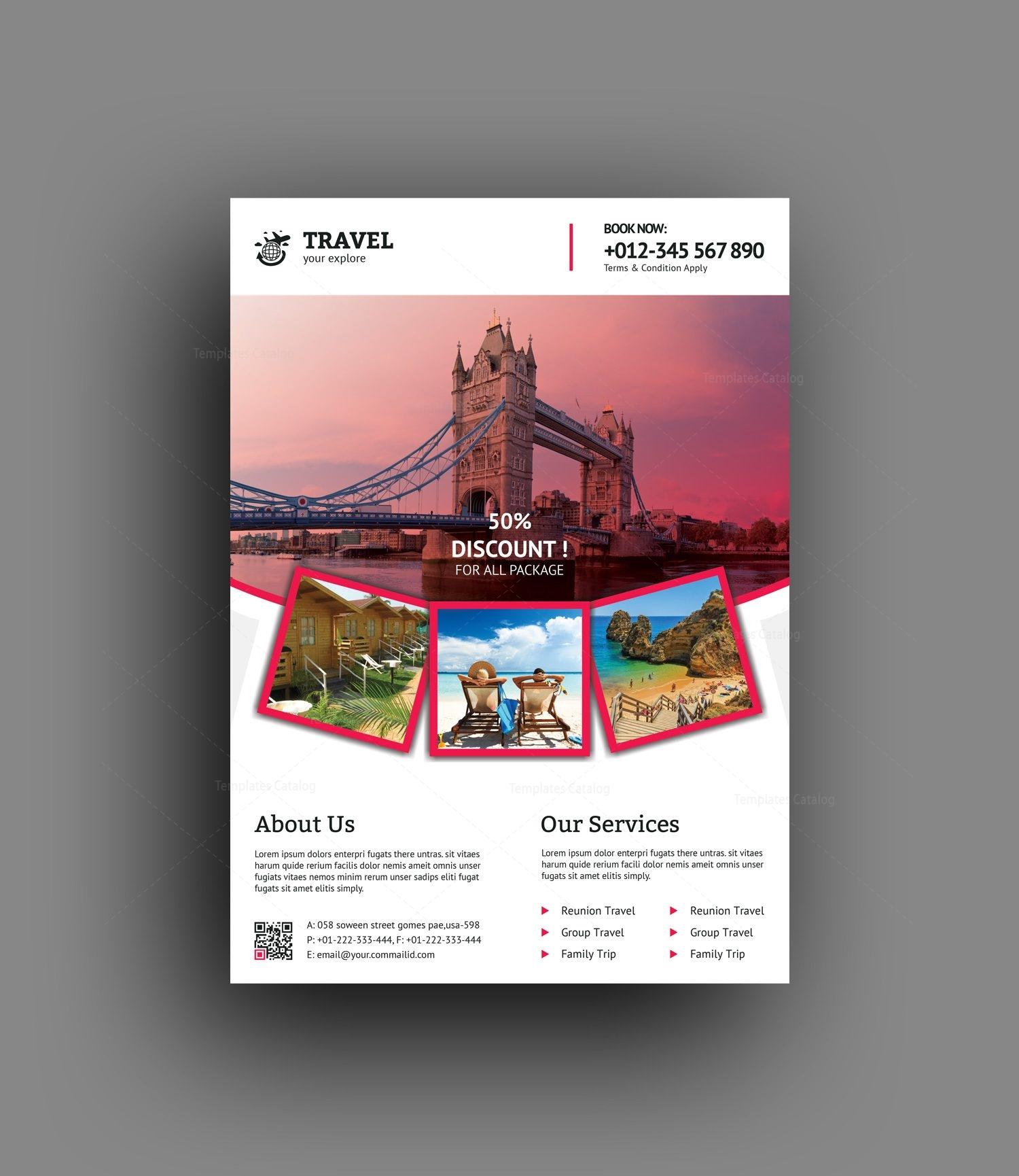 medusa travel agency flyer design template 001475 template catalog
