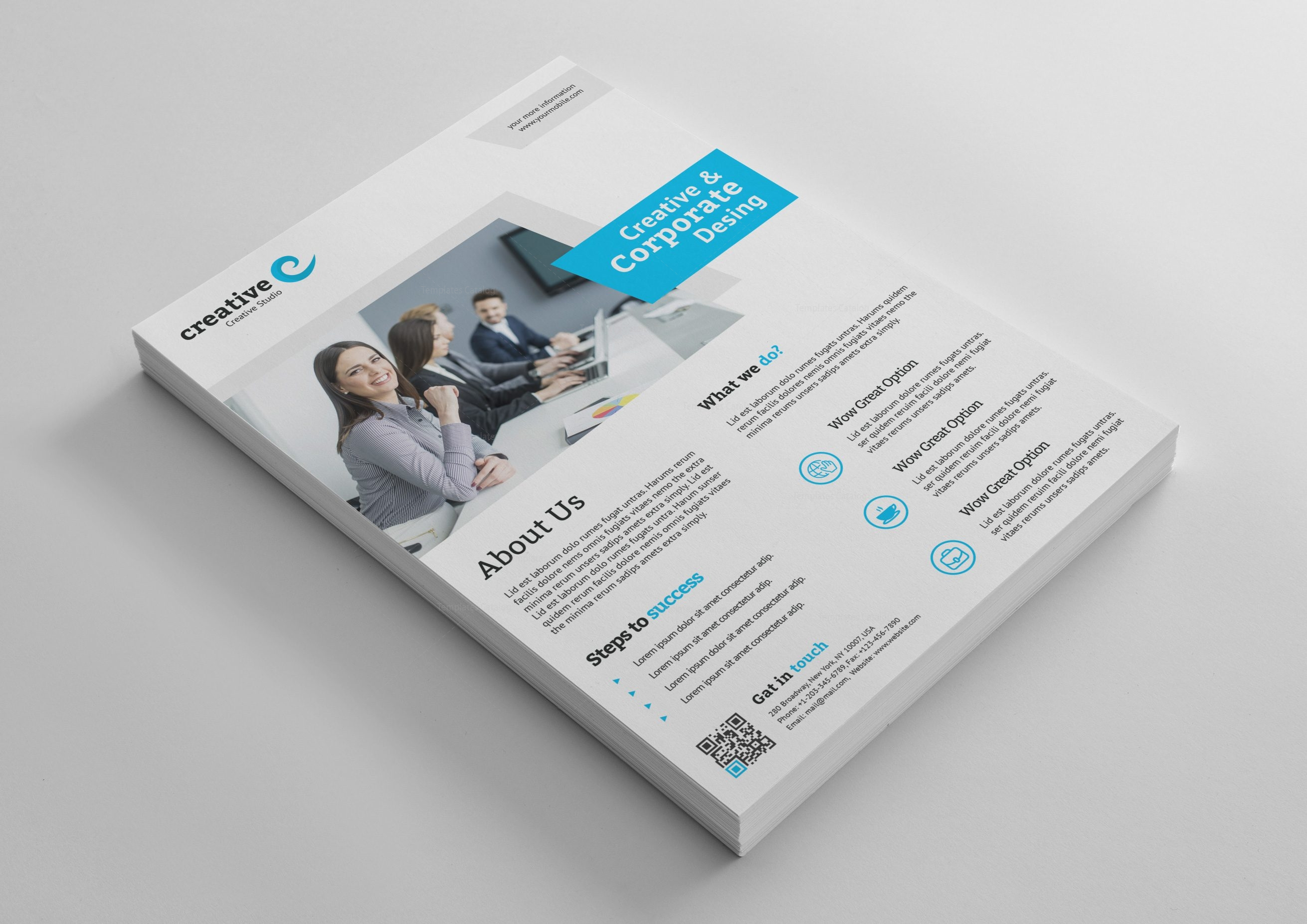 Melbourne Modern Professional Flyer Template Template Catalog - Professional flyer templates