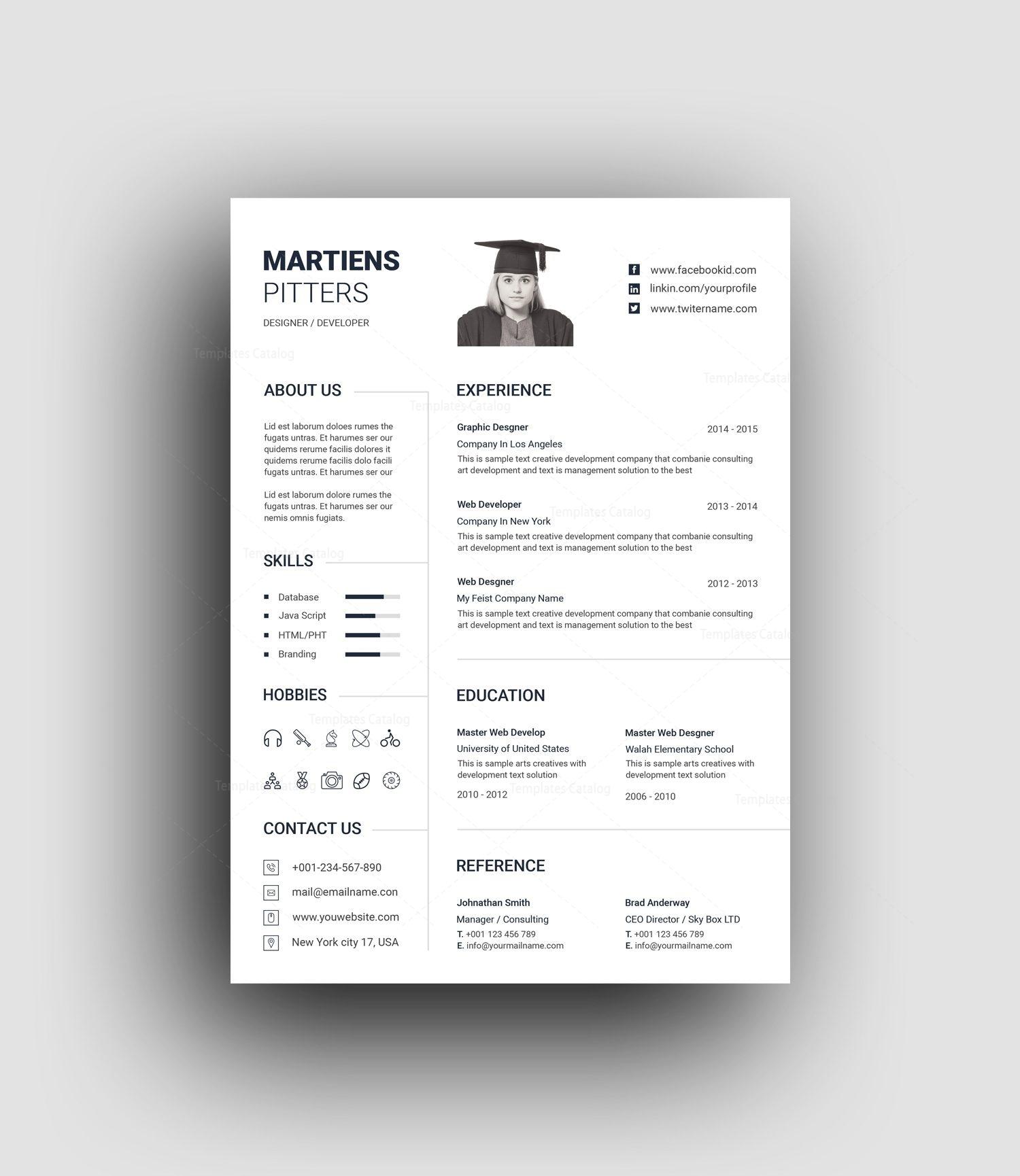 minimalist professional resume template 001454 template catalog. Black Bedroom Furniture Sets. Home Design Ideas